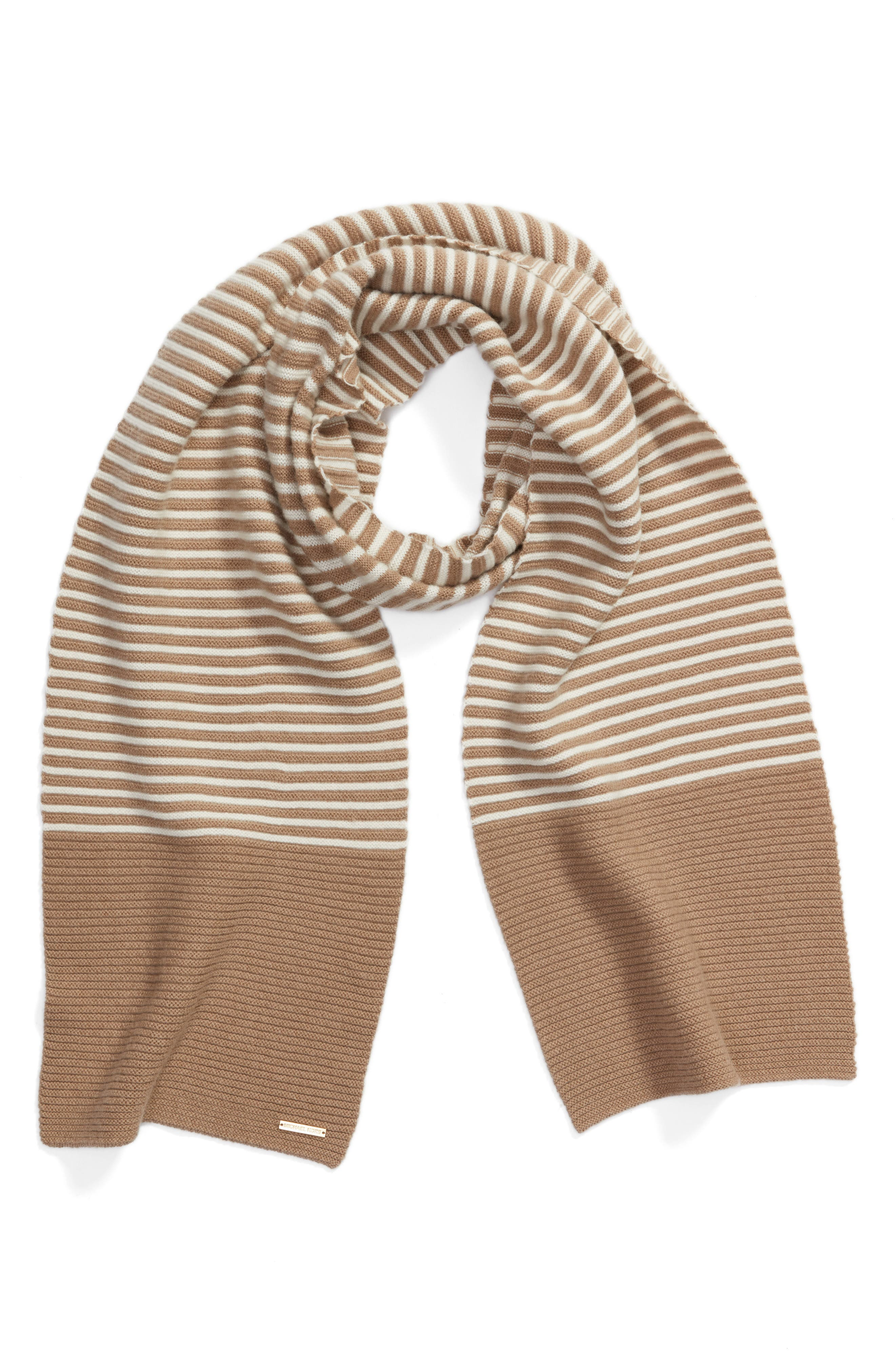 Double Links Wool & Cashmere Scarf,                             Alternate thumbnail 6, color,