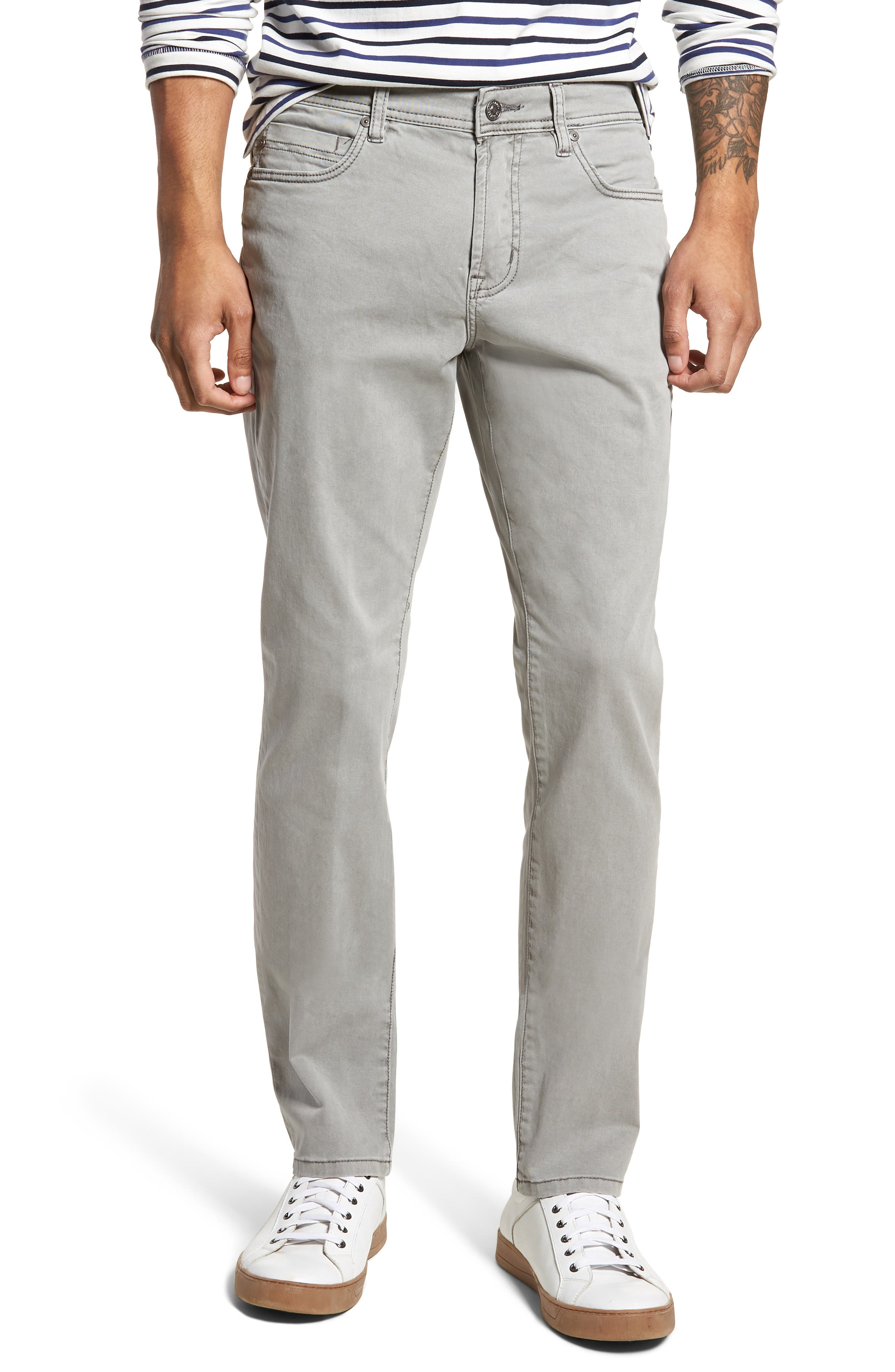 LIVERPOOL,                             Regent Relaxed Straight Leg Twill Pants,                             Main thumbnail 1, color,                             SHARKSKIN