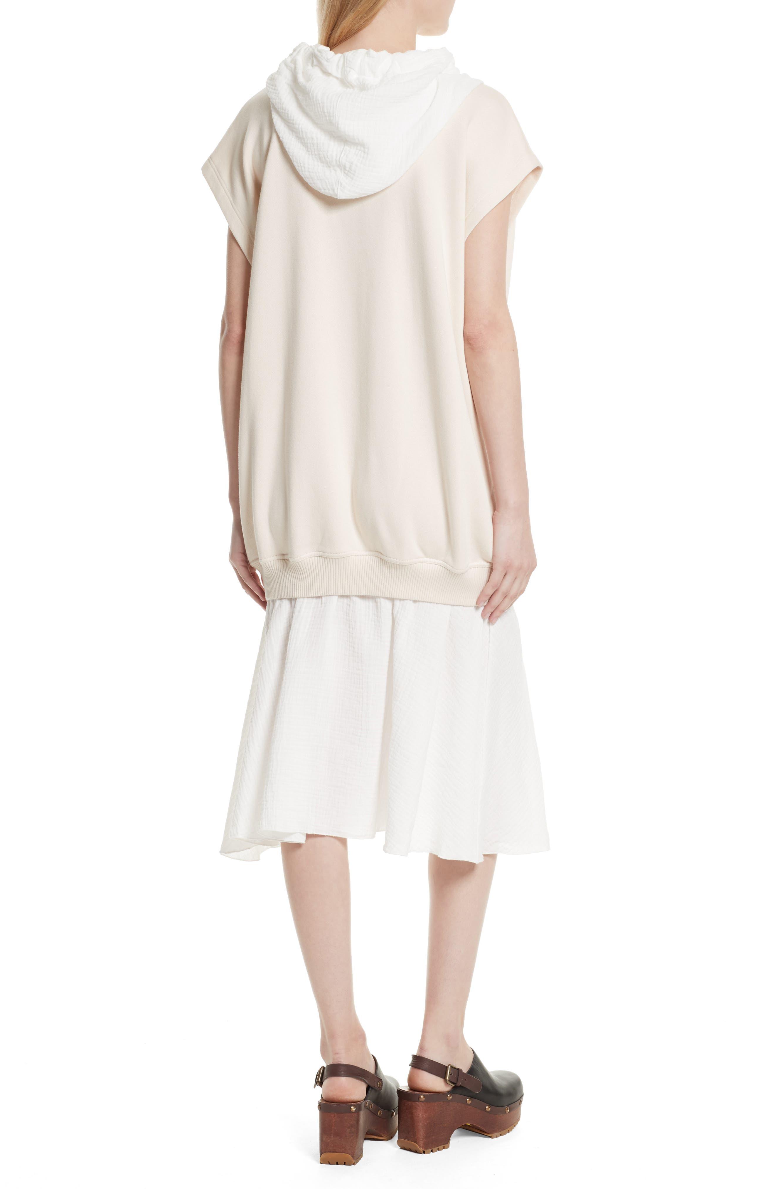 Hooded Sweatshirt Overlay Dress,                             Alternate thumbnail 2, color,                             170