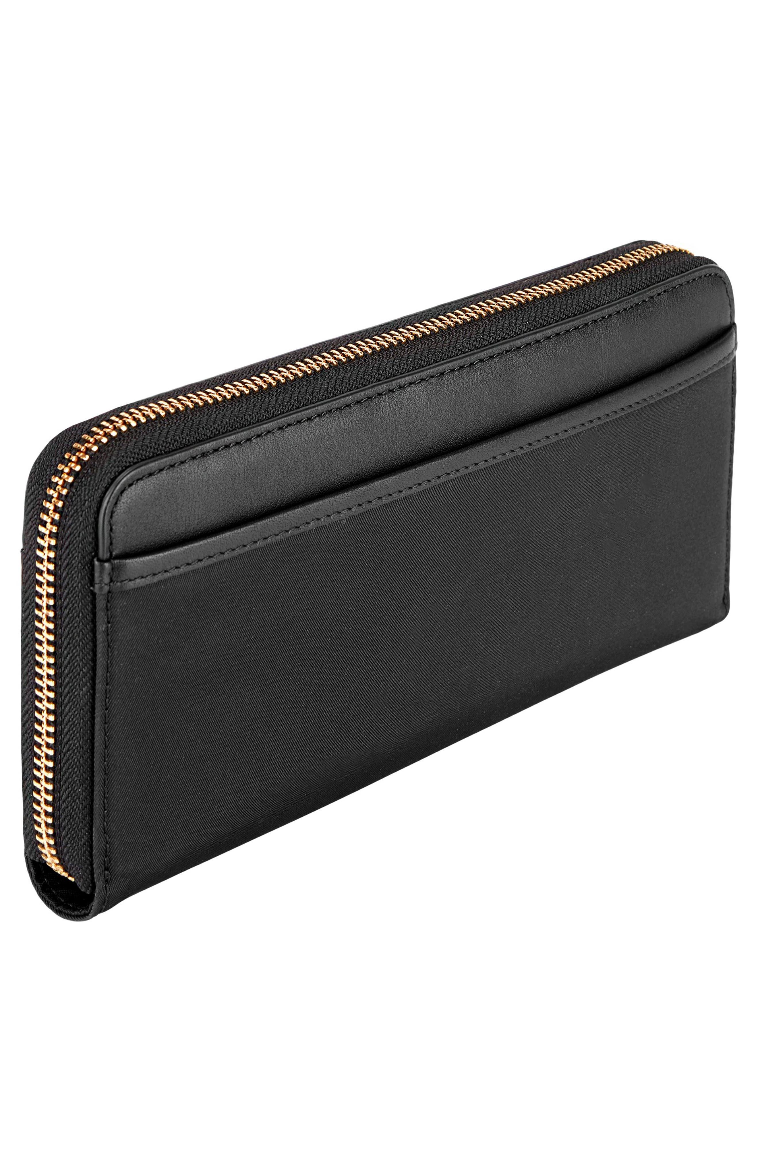 Continental Zip Tech Wallet,                             Alternate thumbnail 3, color,                             001