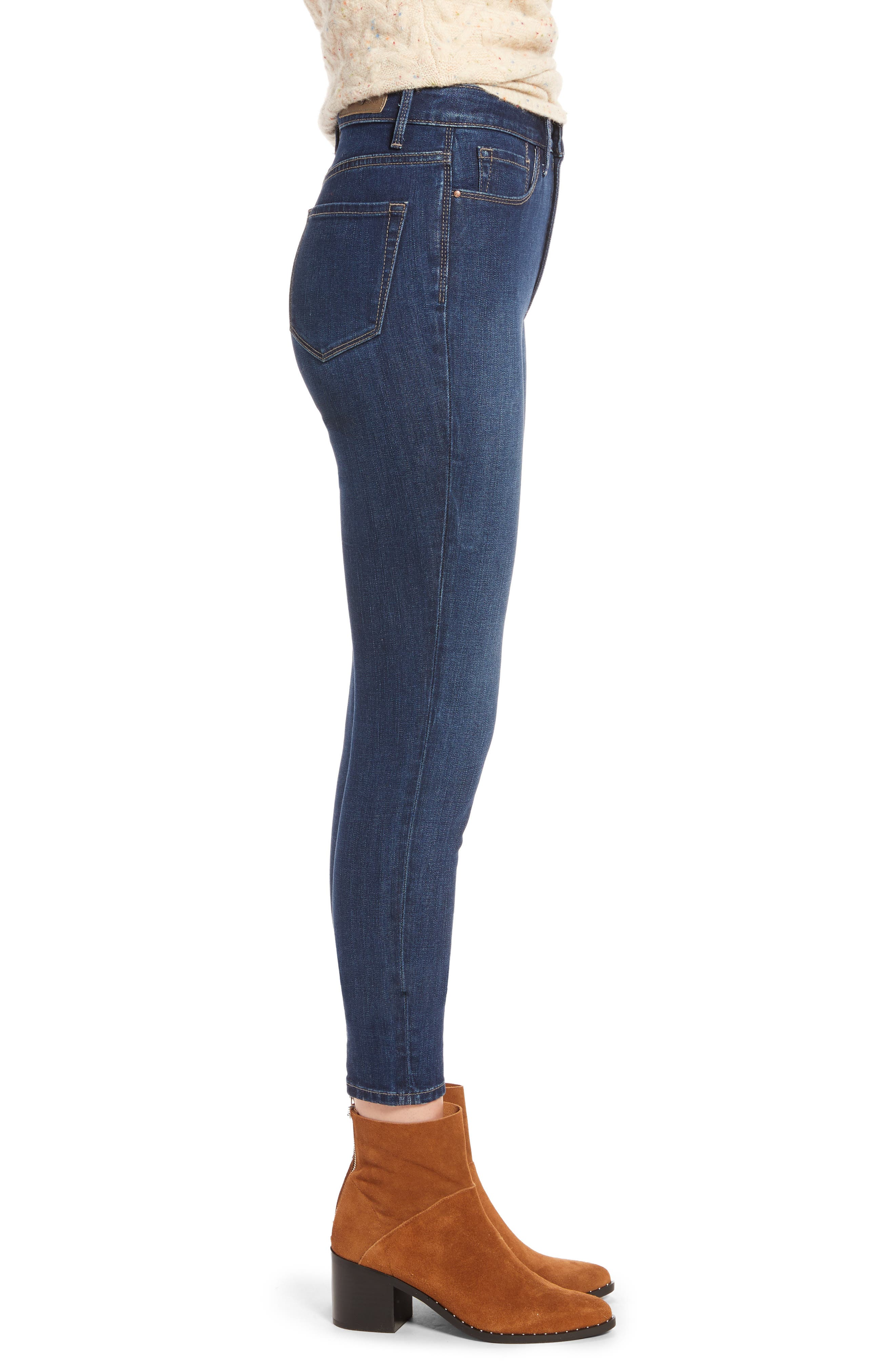 Charity High Waist Ankle Skinny Jeans,                             Alternate thumbnail 3, color,                             401