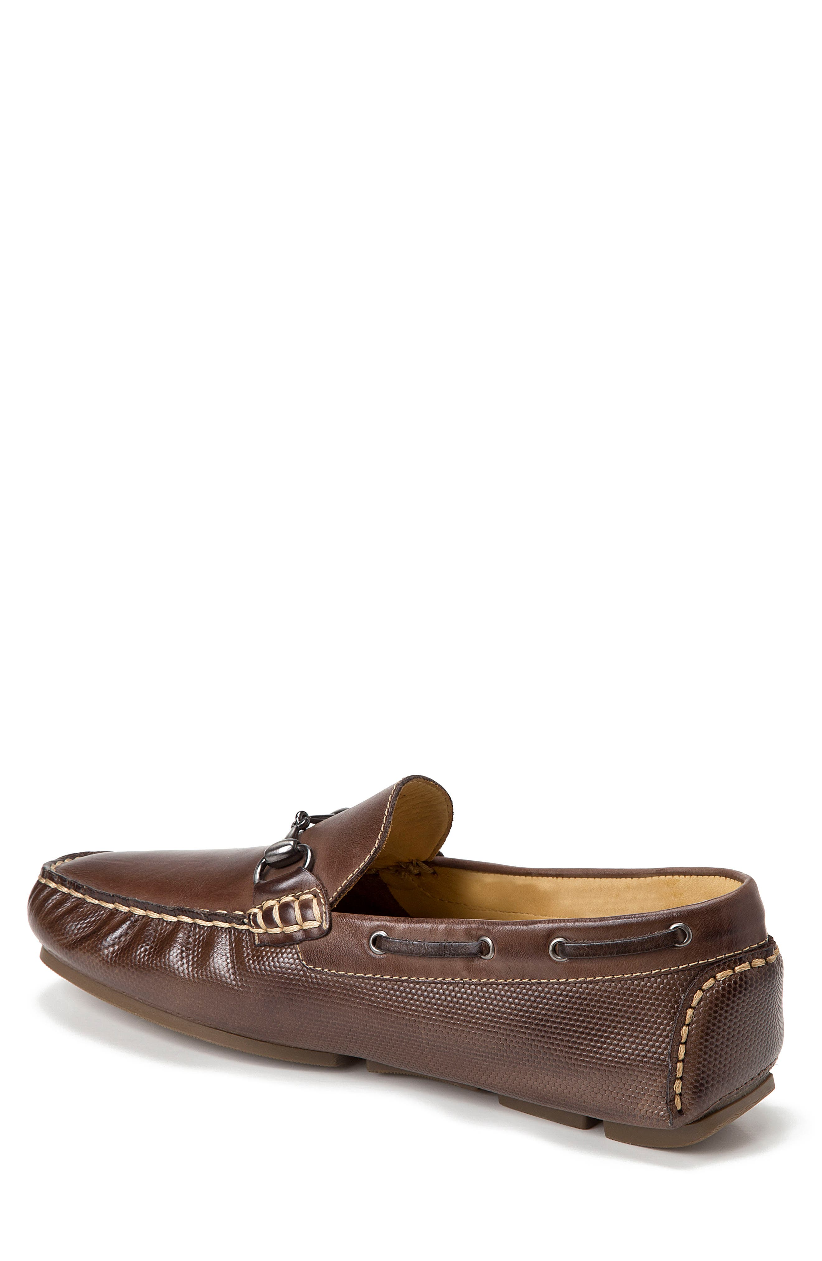 Neil Embossed Loafer,                             Alternate thumbnail 2, color,                             BROWN LEATHER