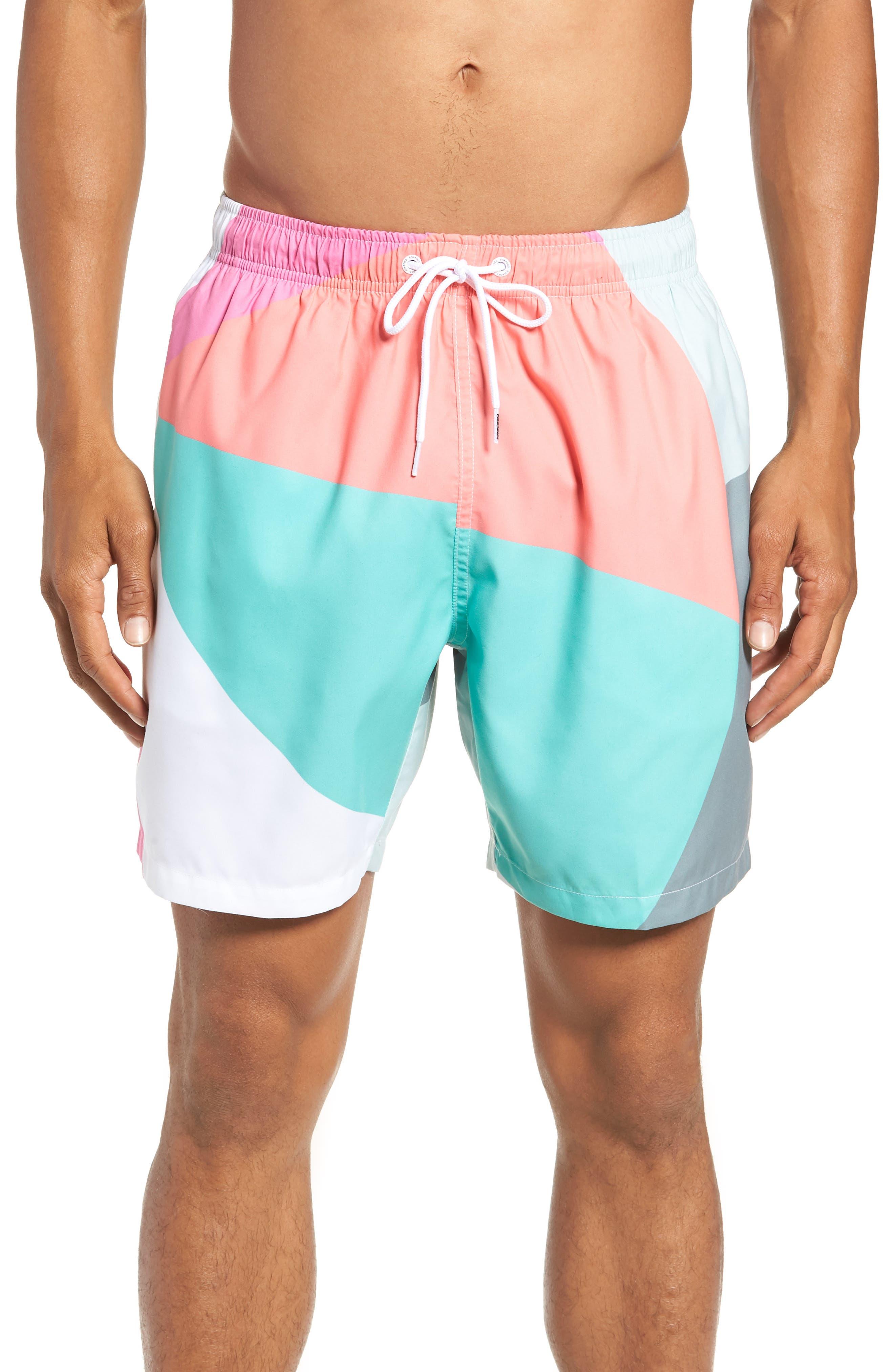 Beach Ball Print Swim Trunks,                         Main,                         color, 020