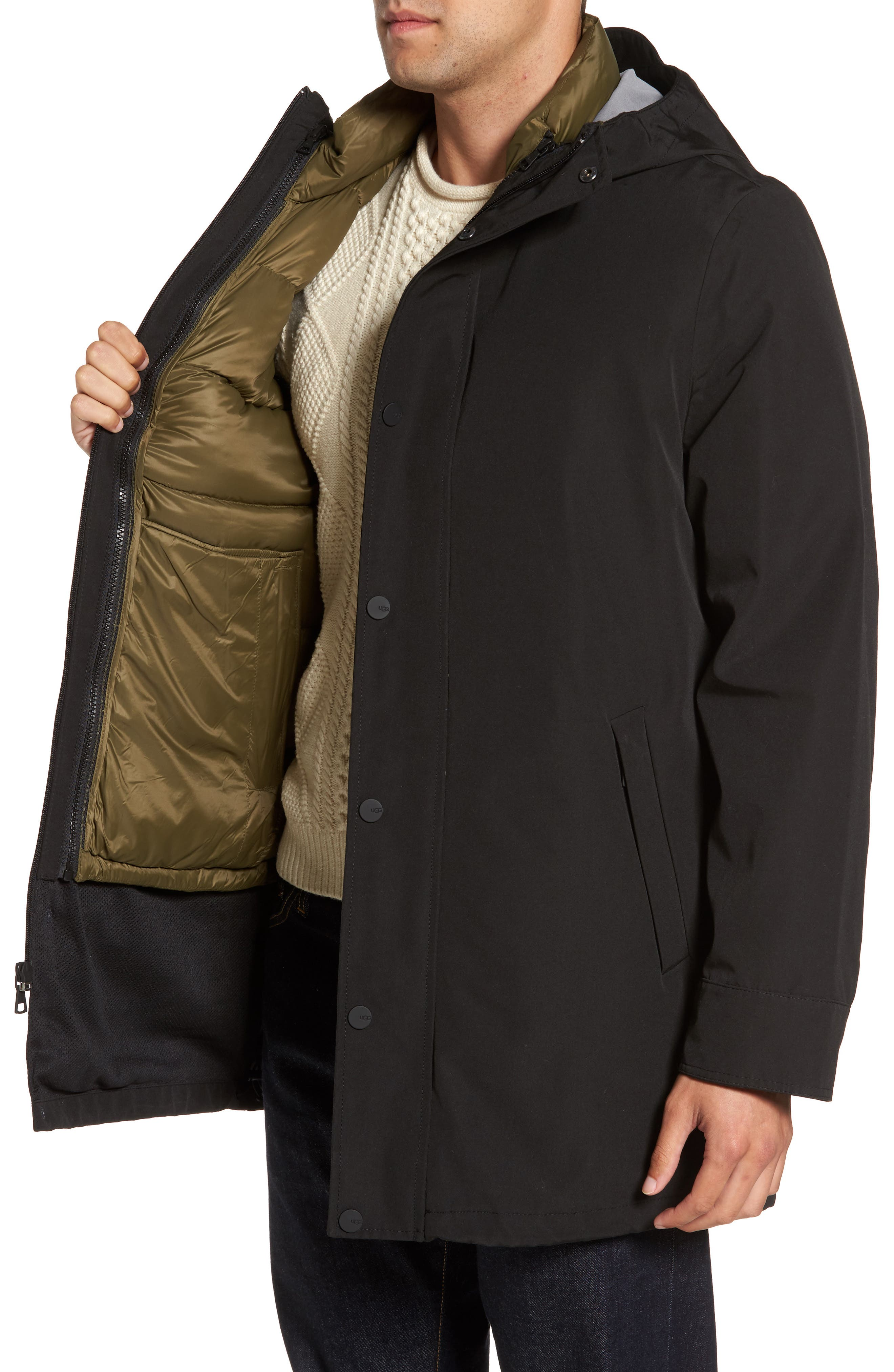 3-in-1 Down Parka,                             Alternate thumbnail 3, color,                             001