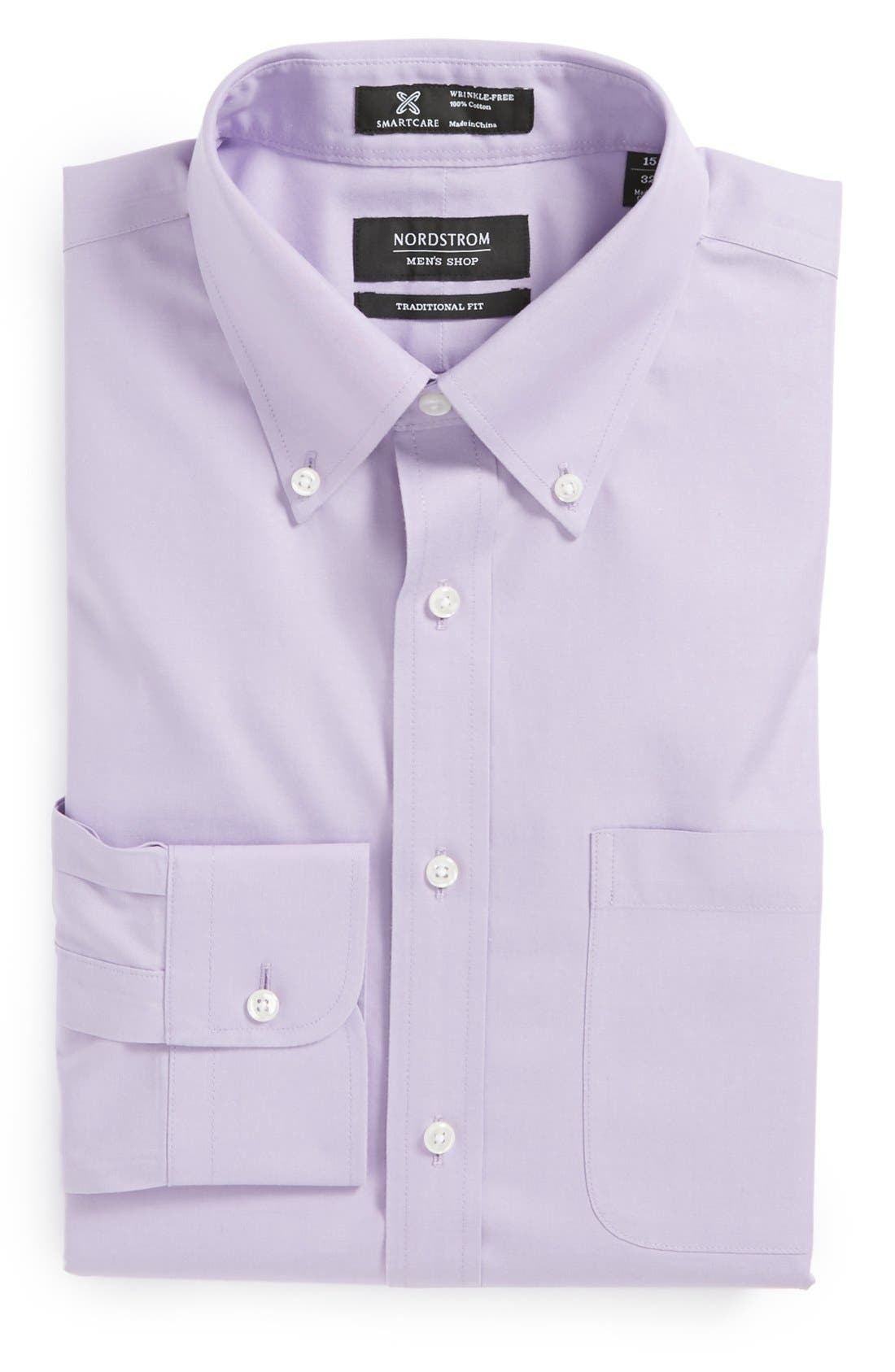 Smartcare<sup>™</sup> Traditional Fit Pinpoint Dress Shirt,                             Main thumbnail 36, color,