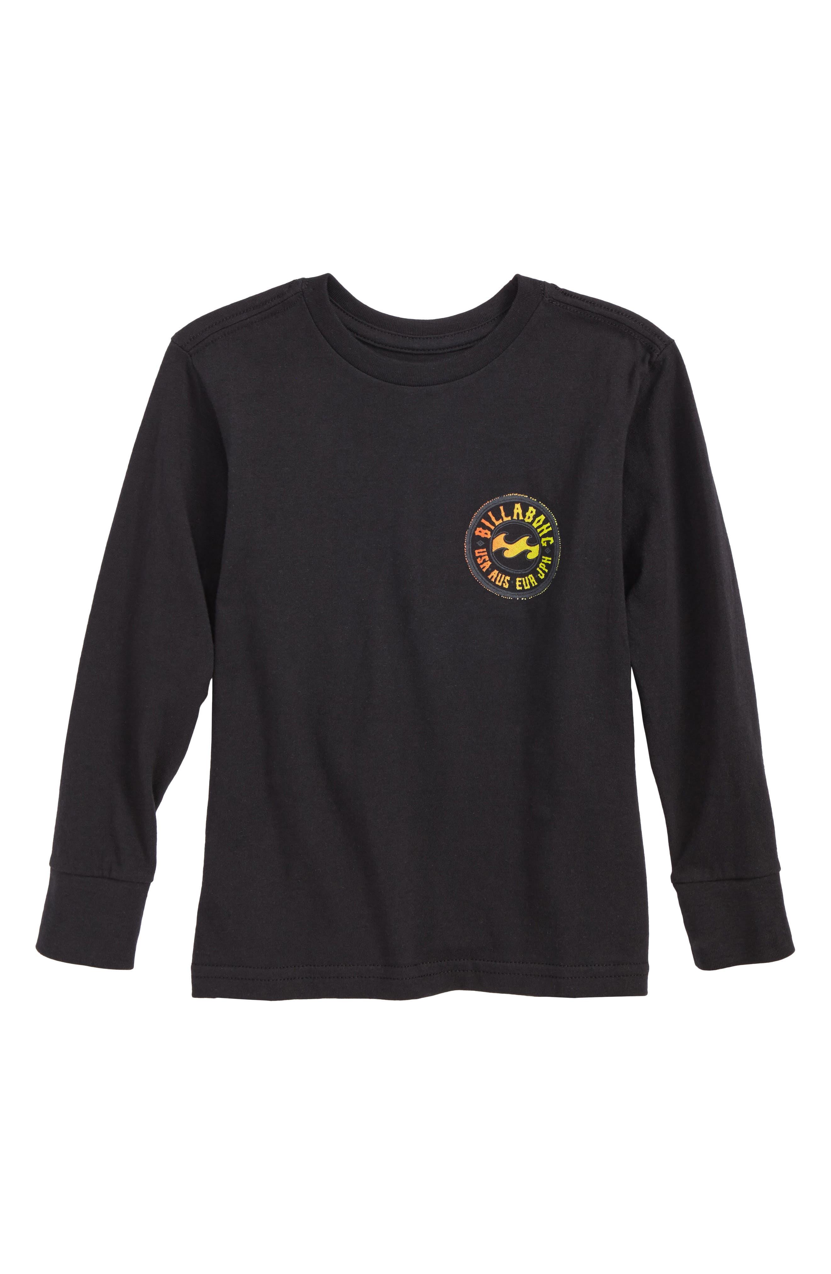 Flip Wave Long Sleeve Graphic T-Shirt,                             Main thumbnail 1, color,                             001
