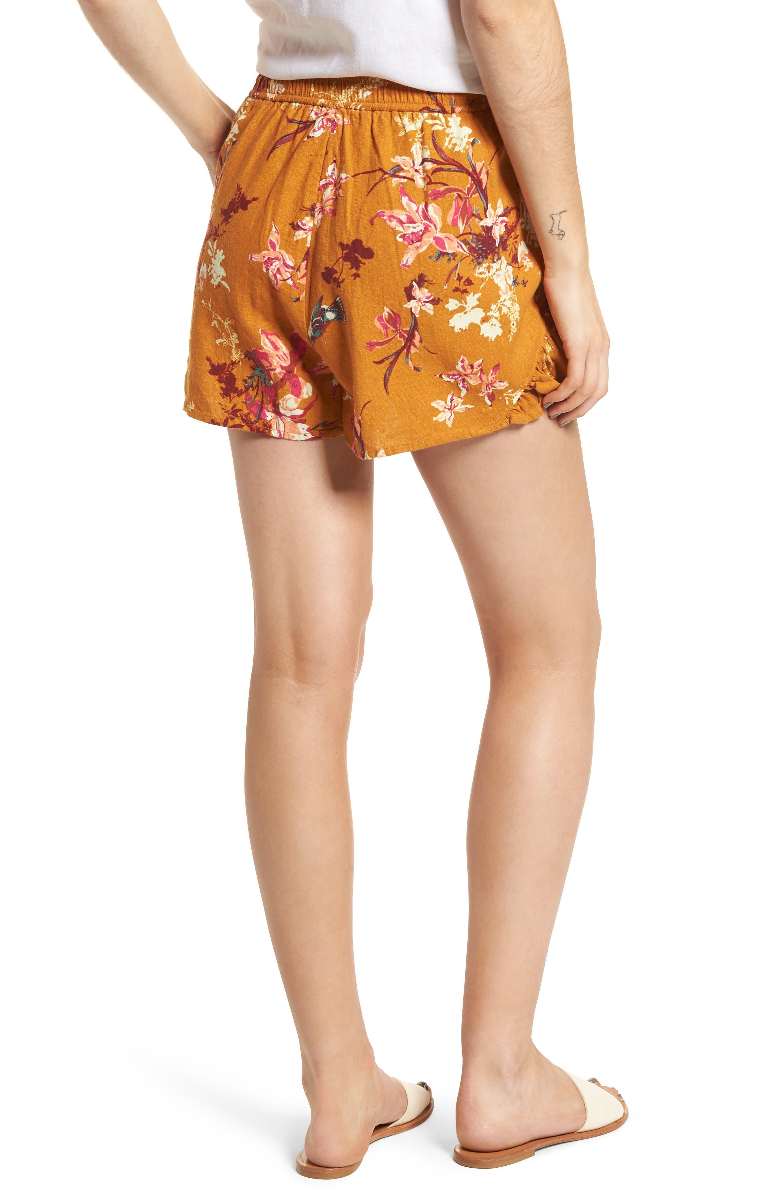Print Linen Blend Shorts,                             Alternate thumbnail 2, color,                             720