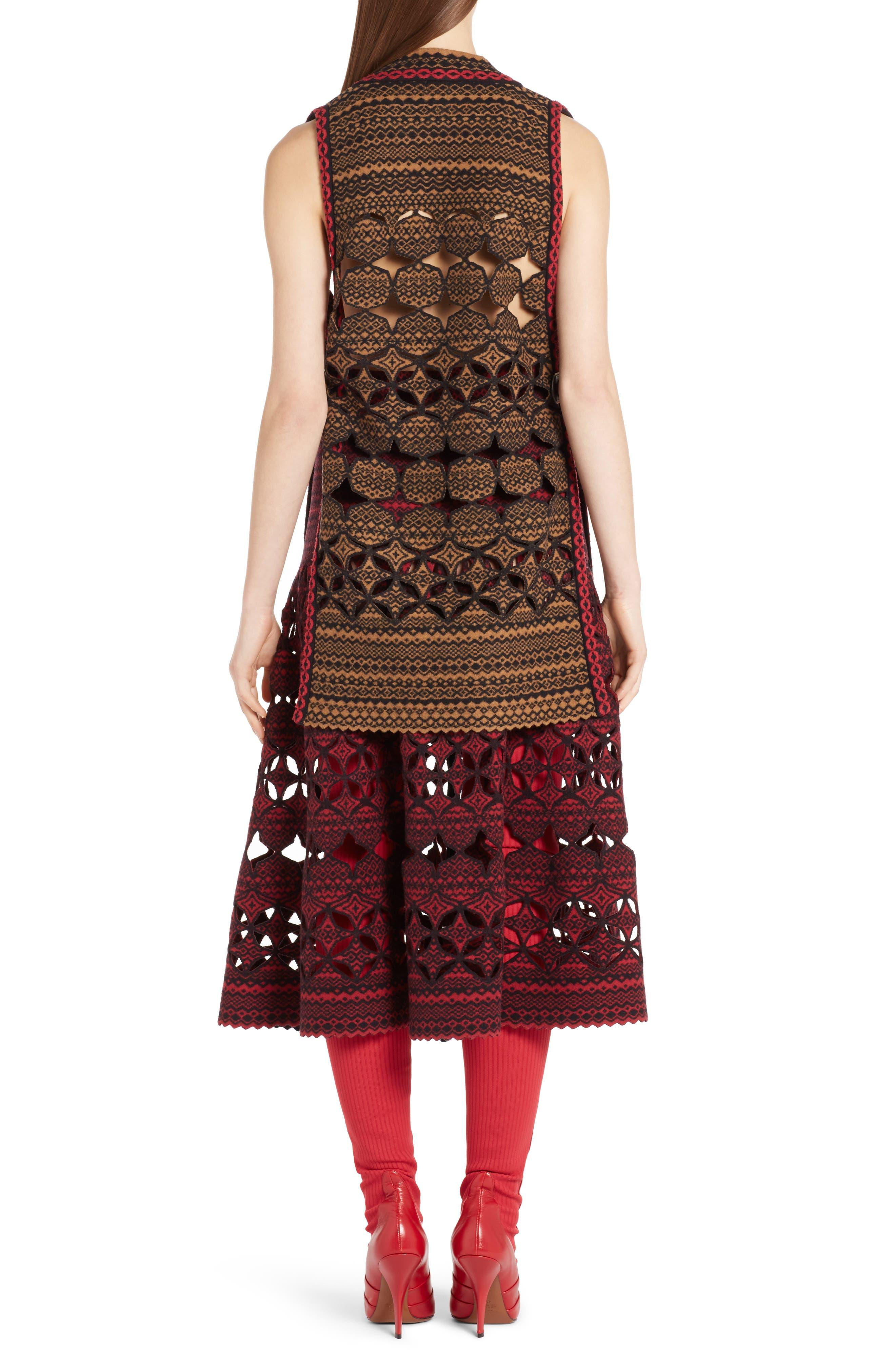 Fair Isle Wool Blend Knit Vest,                             Alternate thumbnail 2, color,