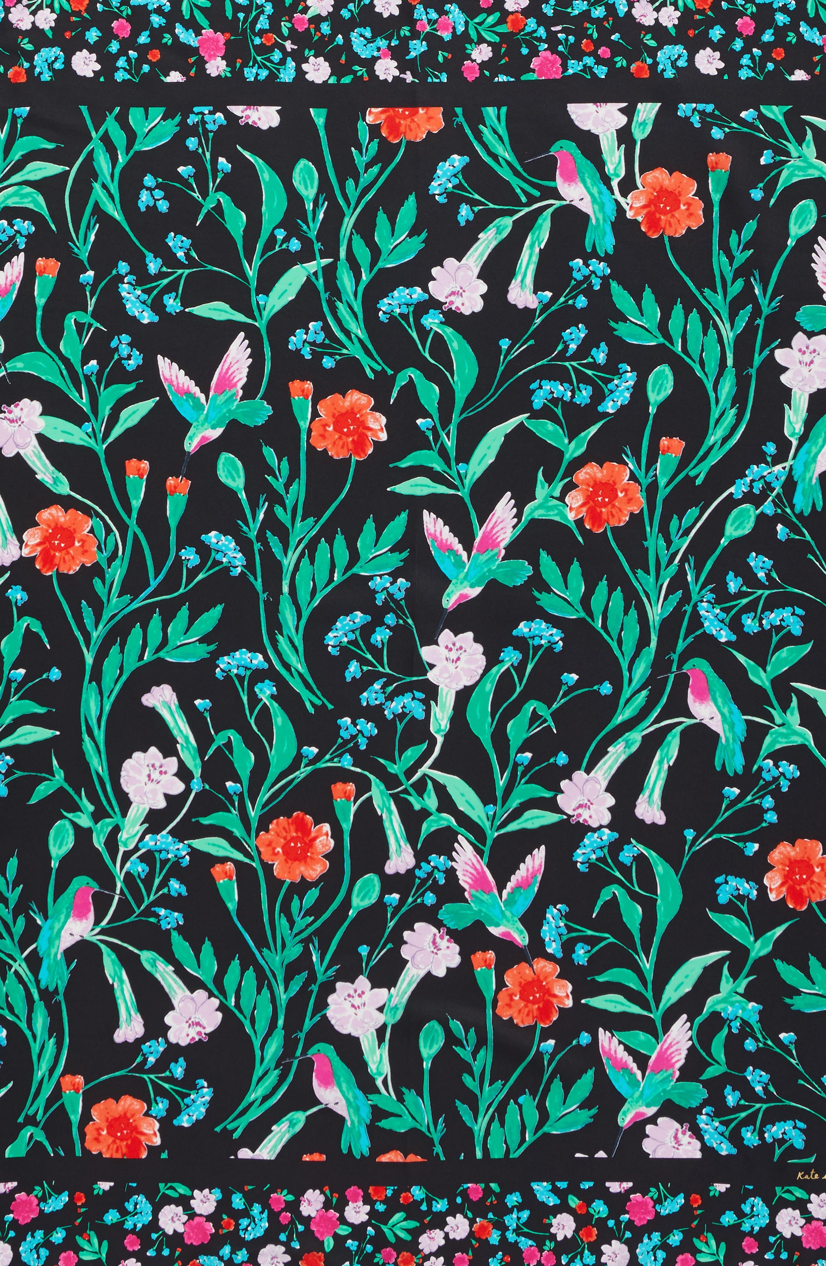 KATE SPADE NEW YORK,                             jardin silk square scarf,                             Alternate thumbnail 3, color,                             001