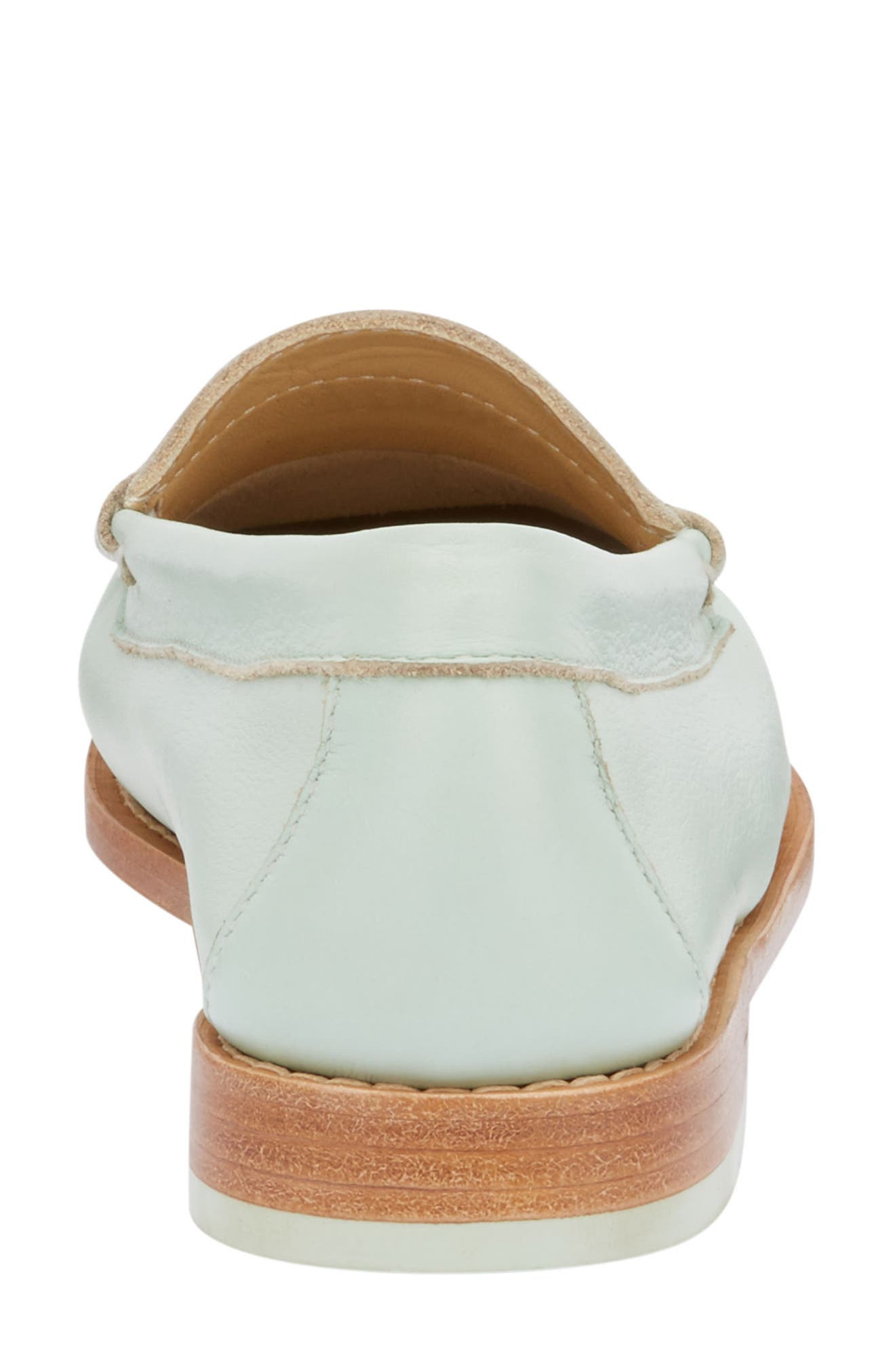 'Whitney' Loafer,                             Alternate thumbnail 7, color,                             MINT GREEN LEATHER