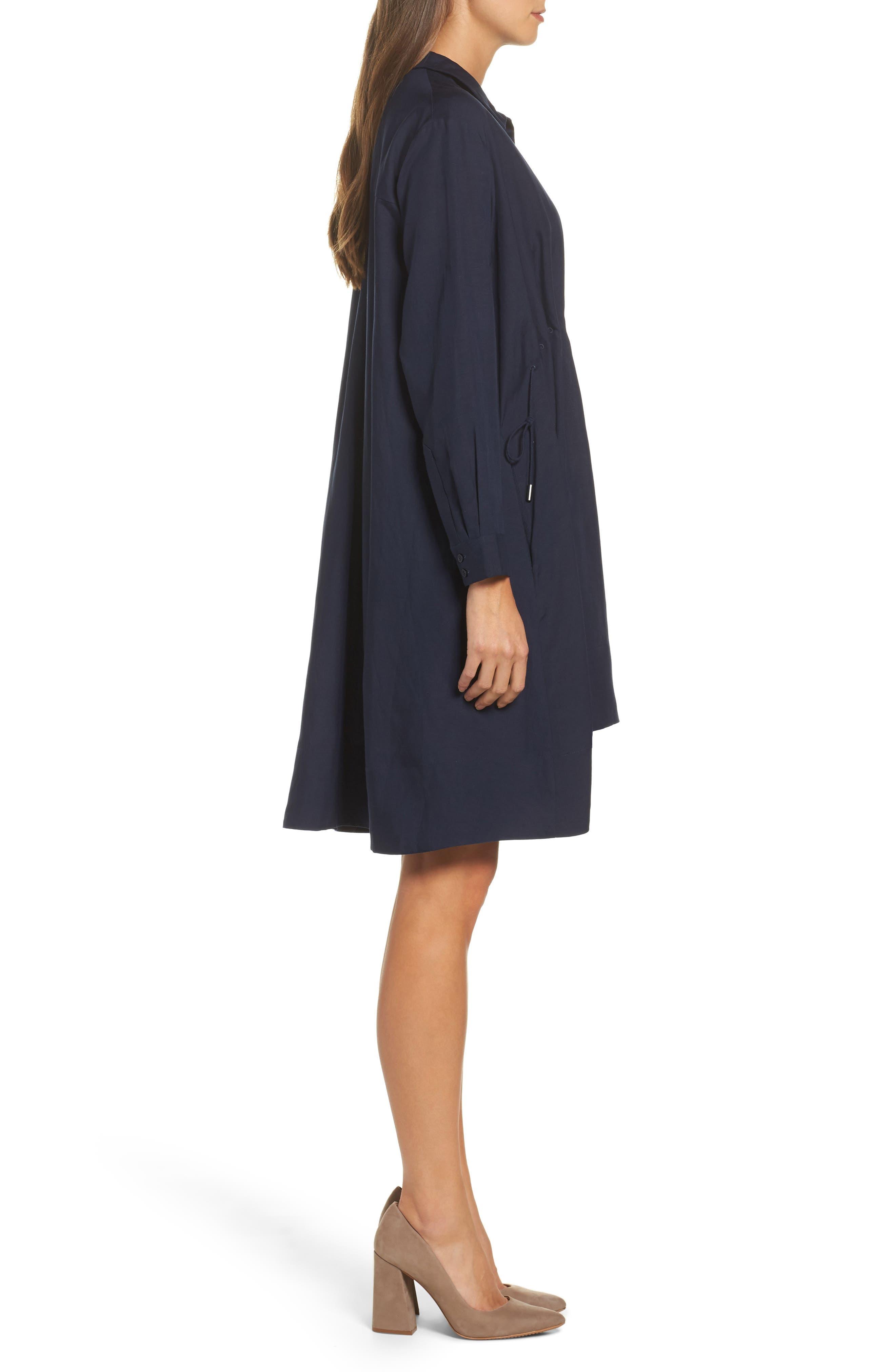 Ellesmere Drape Shirtdress,                             Alternate thumbnail 3, color,