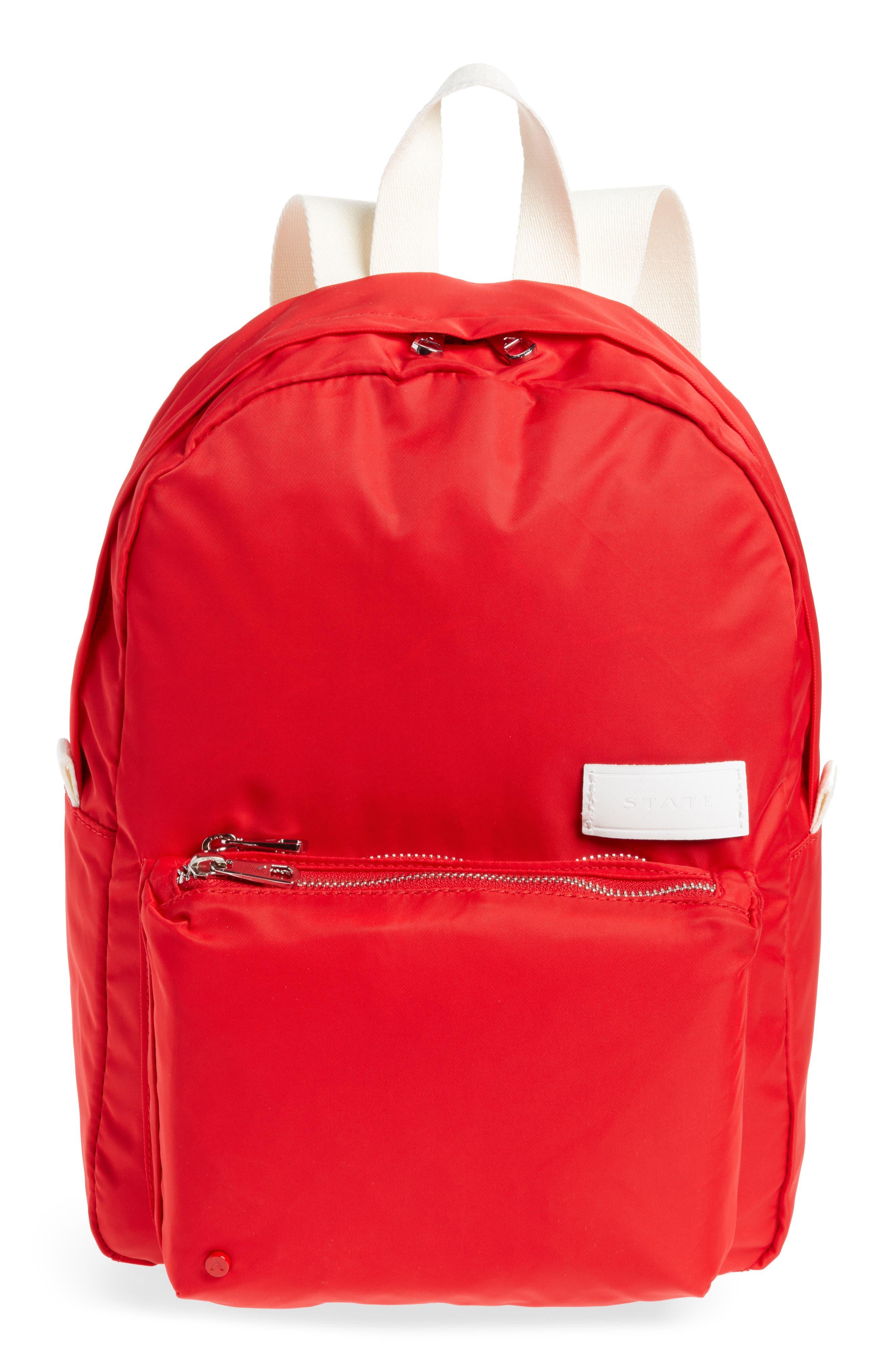 The Heights Mini Lorimer Nylon Backpack,                             Main thumbnail 1, color,                             RED