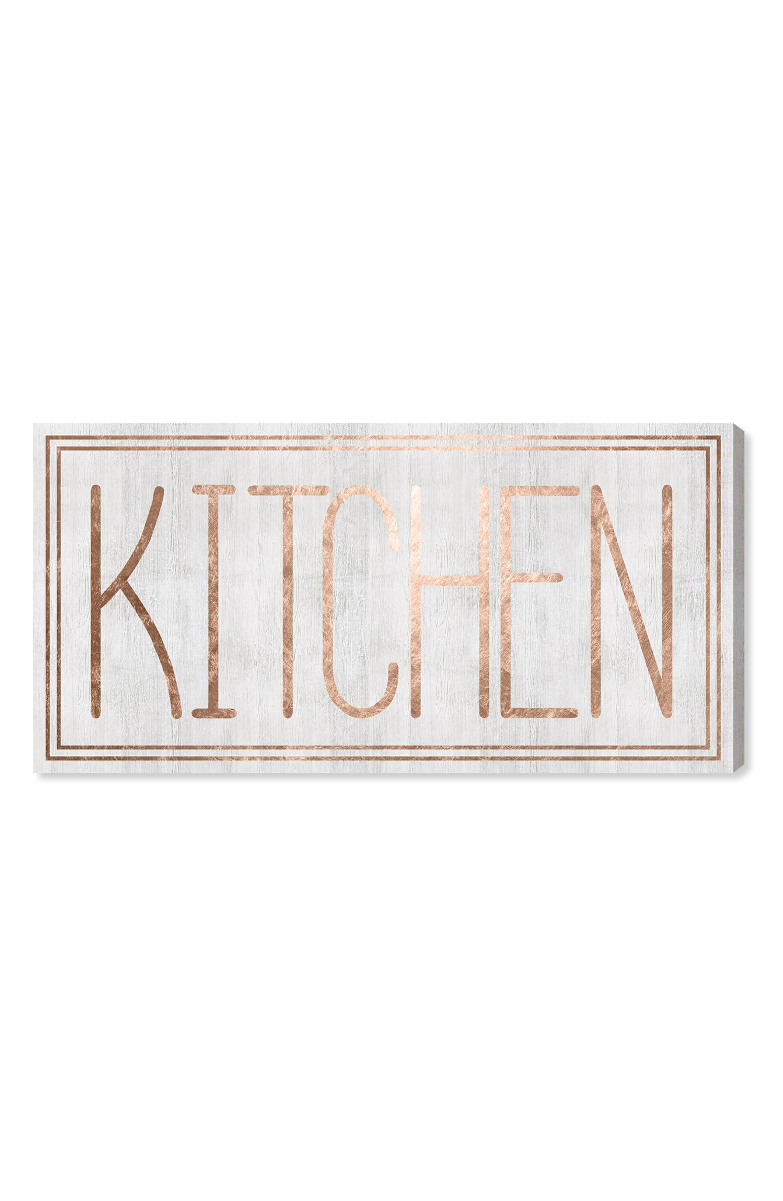 Kitchen Canvas Wall Art,                             Main thumbnail 1, color,                             WHITE