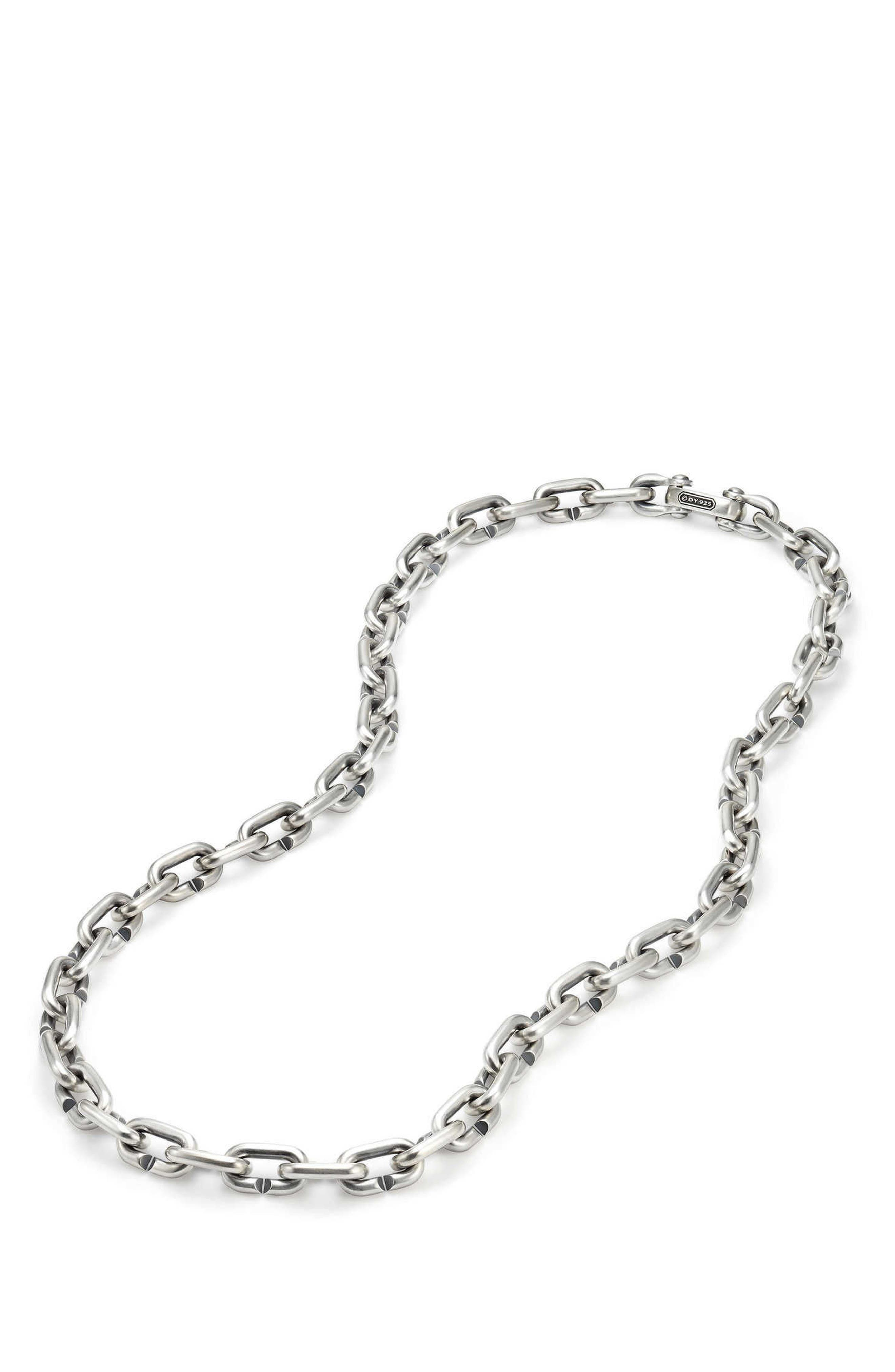 Bold Chain Links Necklace,                             Main thumbnail 1, color,                             SILVER