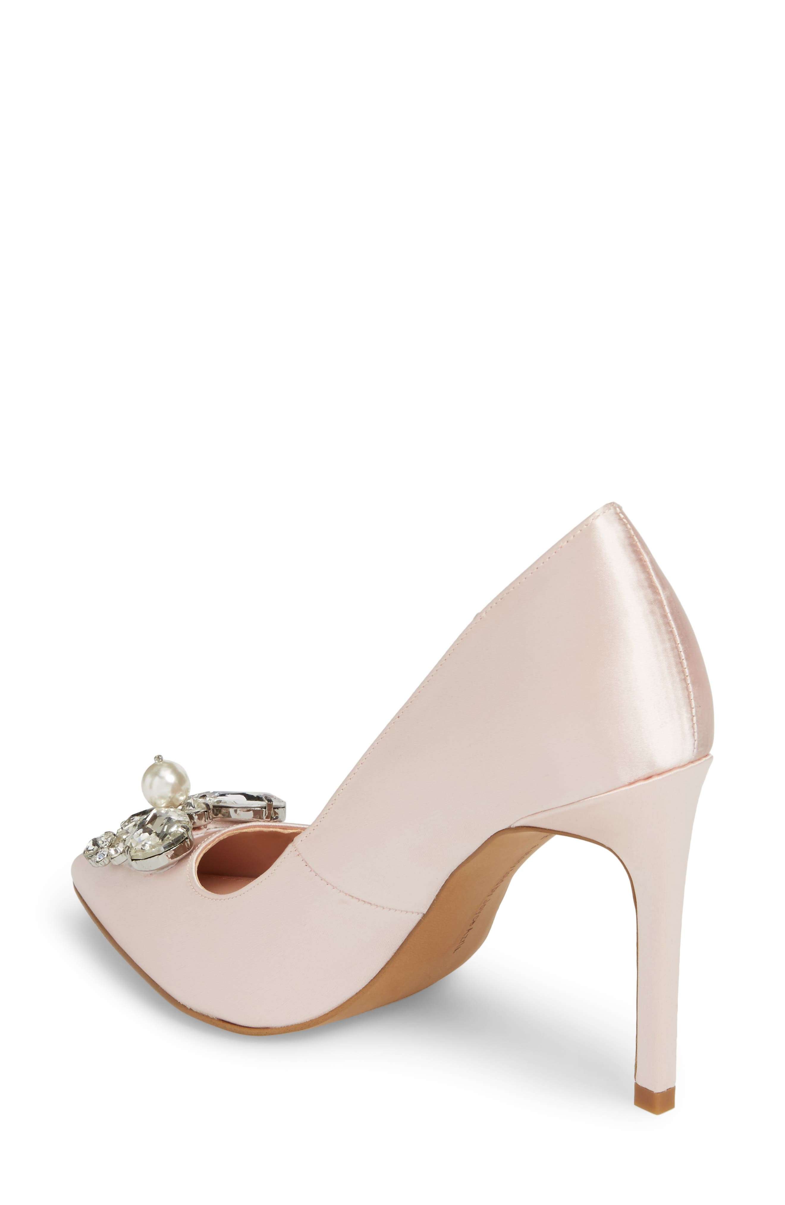 Chiara Embellished Pointy Toe Pump,                             Alternate thumbnail 4, color,
