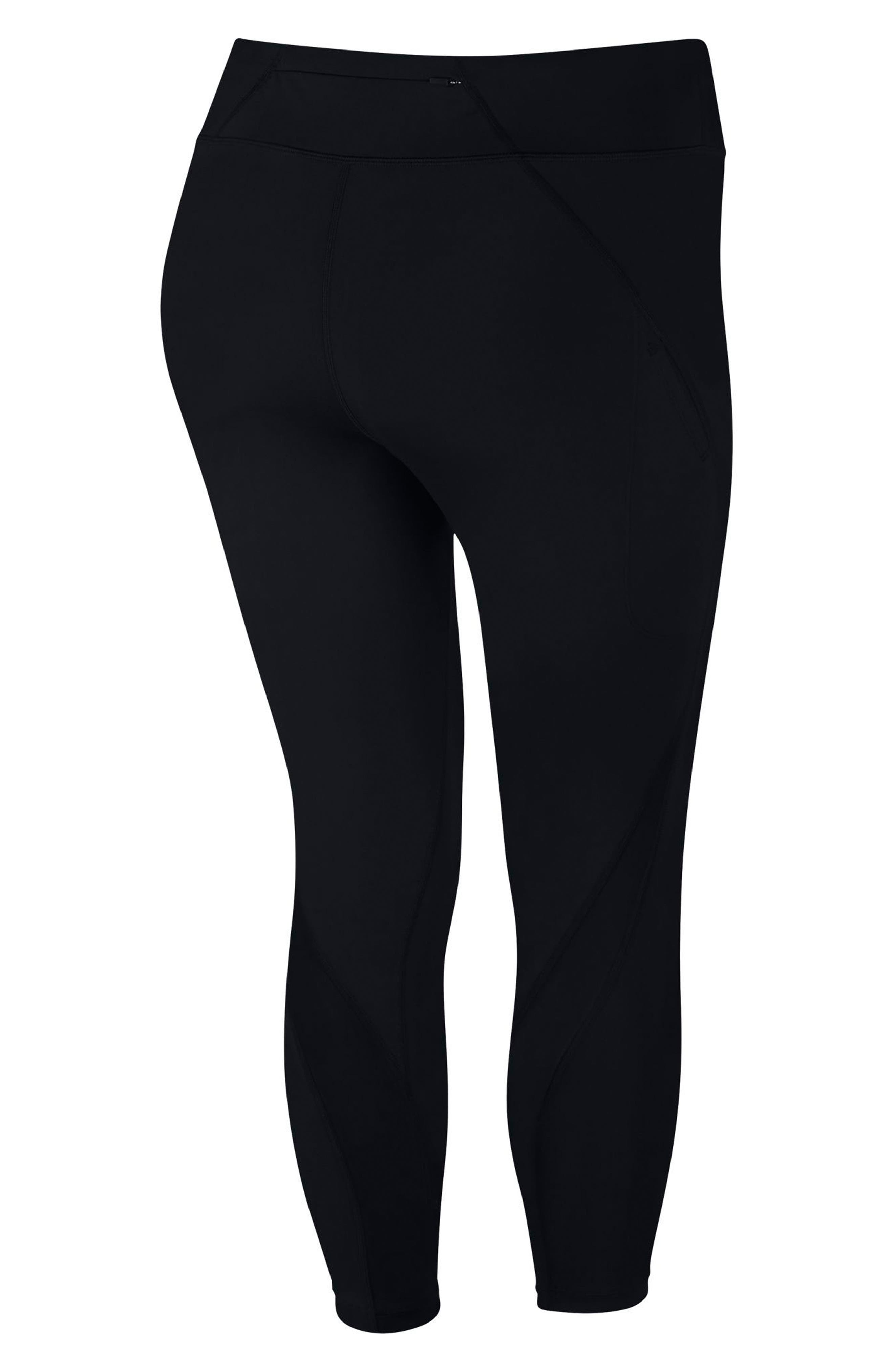 Power Epic Lux Crop Running Tights,                             Alternate thumbnail 19, color,