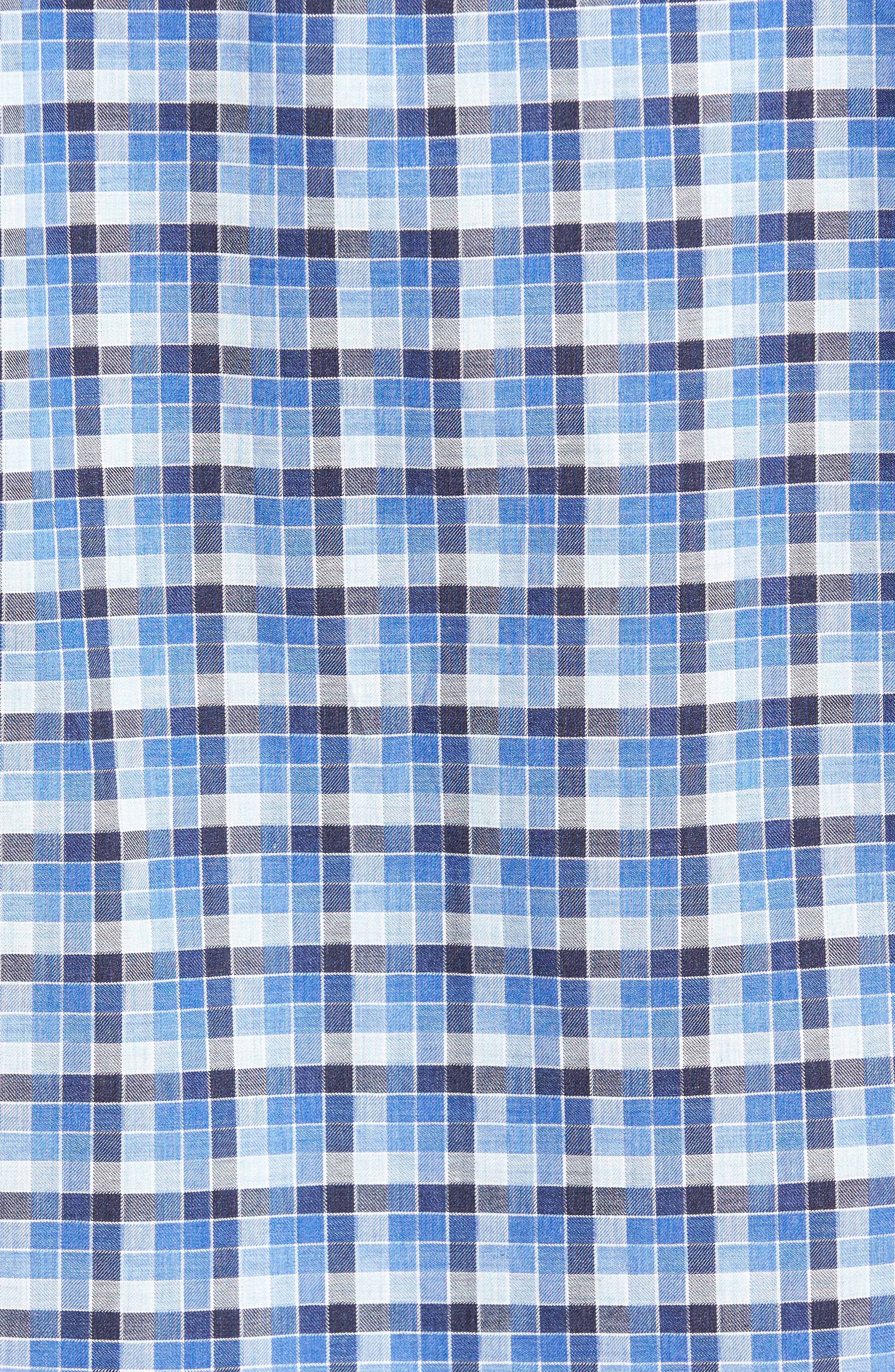 Classic Fit Funky Check Sport Shirt,                             Alternate thumbnail 5, color,