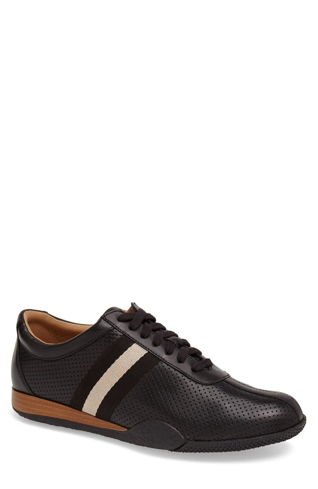 'Frenz' Perforated Sneaker,                             Main thumbnail 1, color,                             001