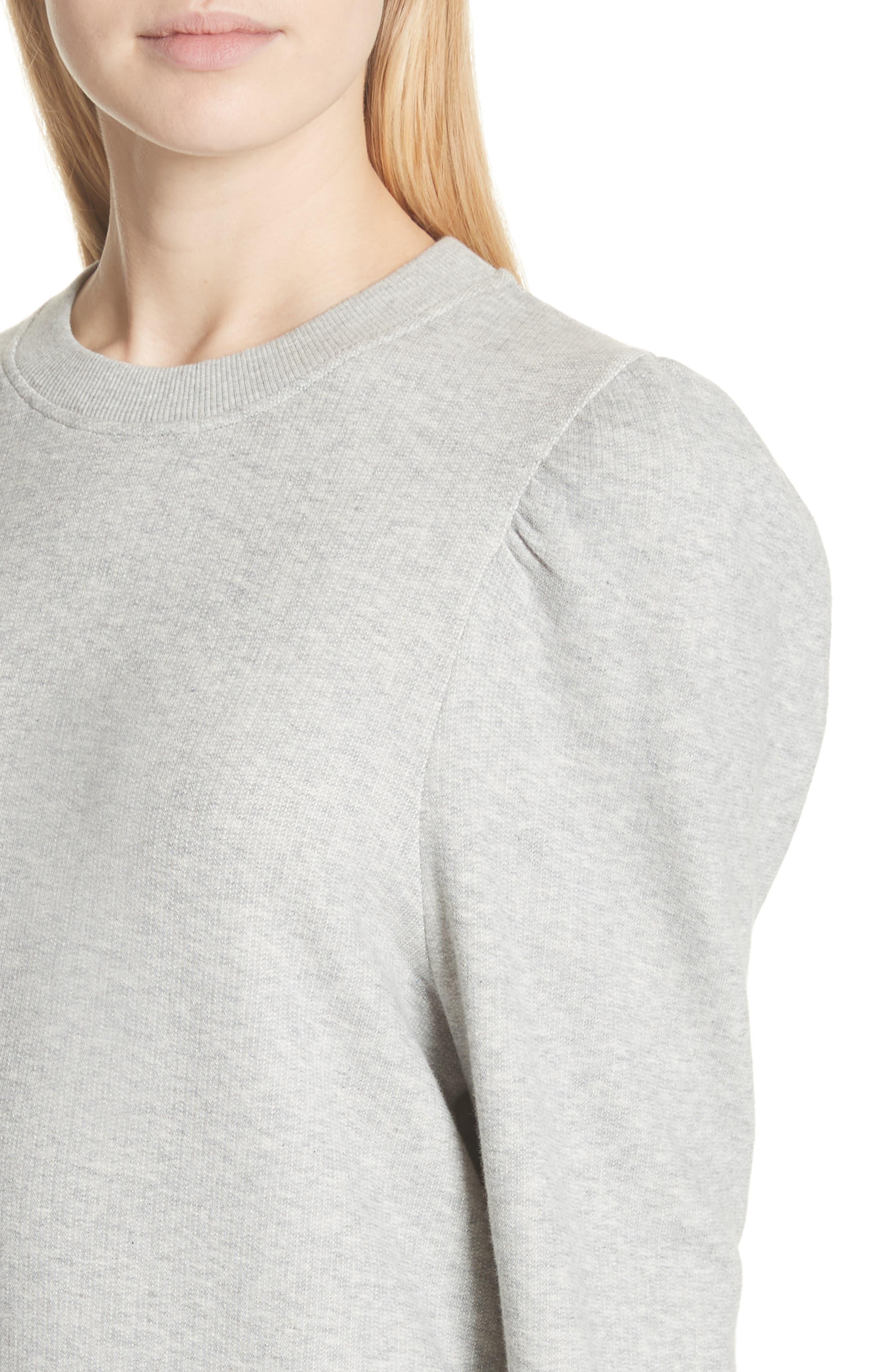 Puff Shoulder Sweater,                             Alternate thumbnail 4, color,                             030