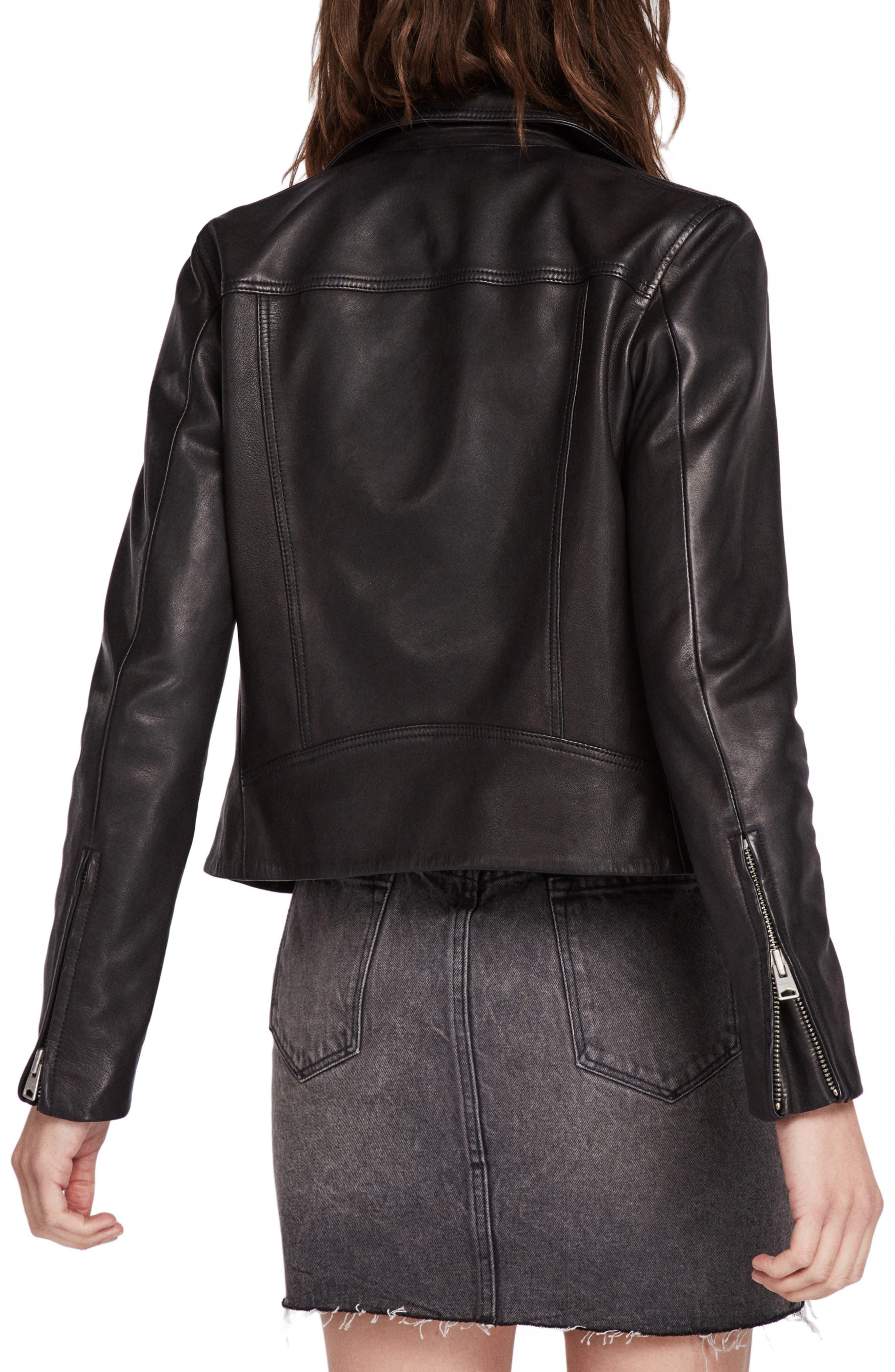 Dalby Biker Jacket,                             Alternate thumbnail 2, color,                             BLACK