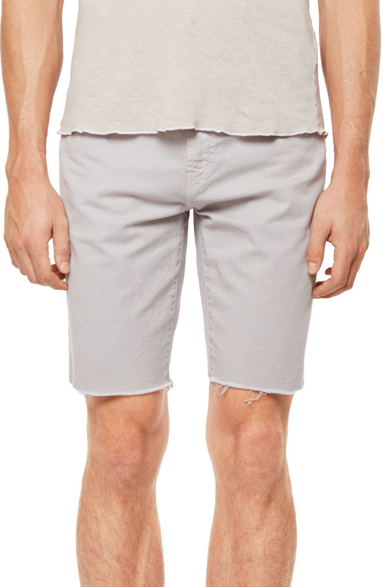Eli Cutoff Denim Shorts,                             Main thumbnail 1, color,                             100