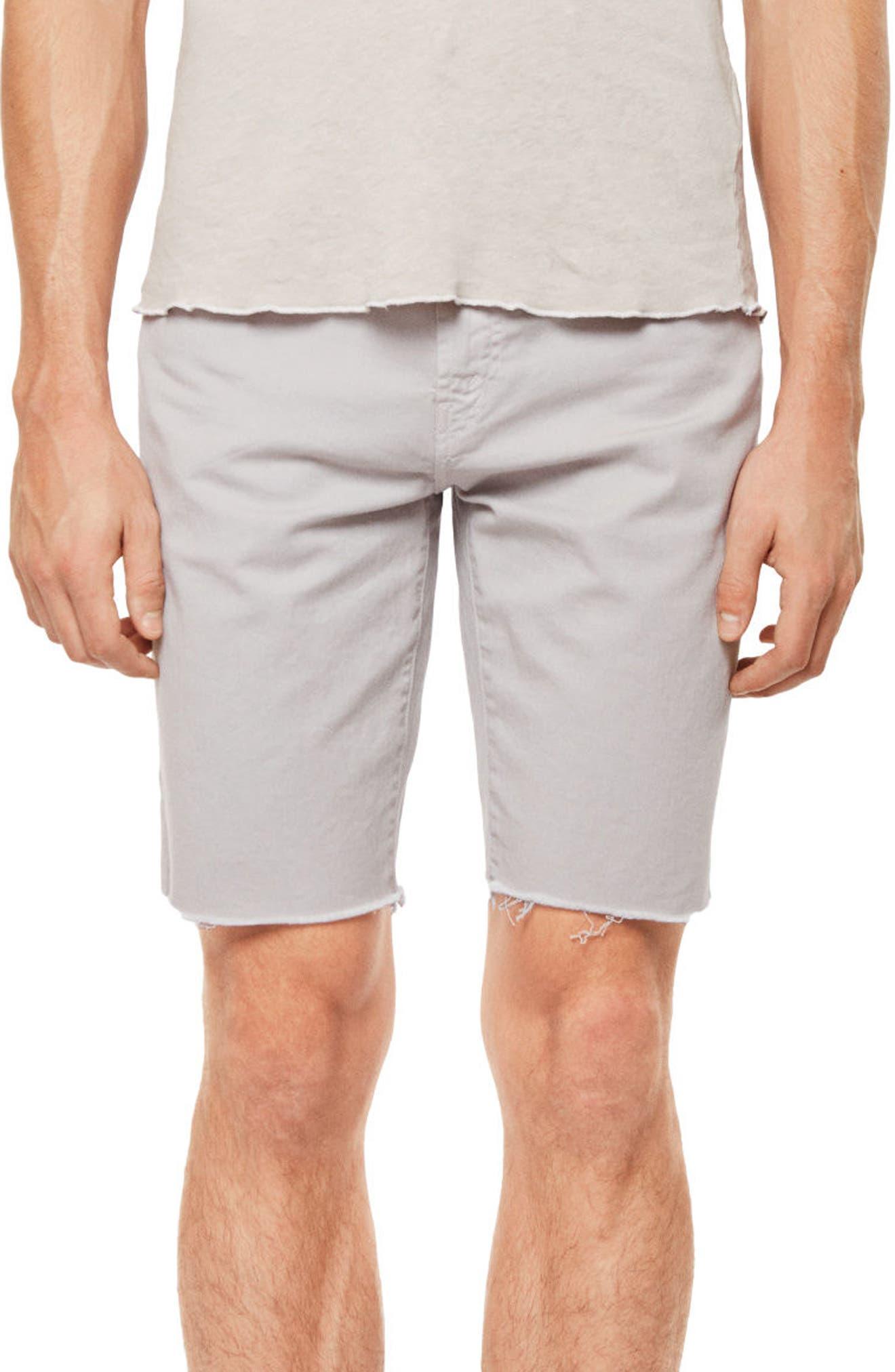 Eli Cutoff Denim Shorts,                         Main,                         color, 100