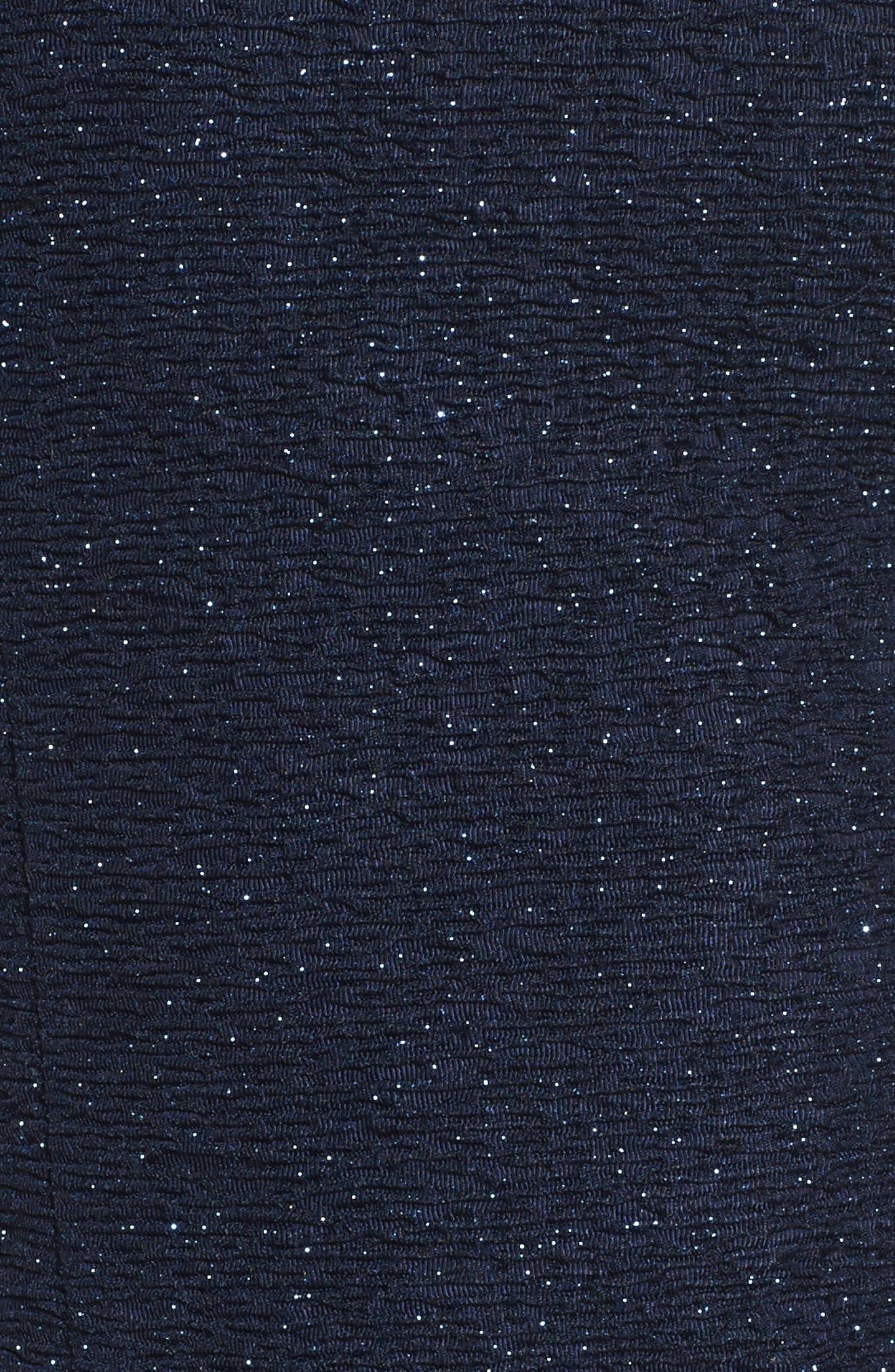 Cold Shoulder Sparkle Knit Sheath Dress,                             Alternate thumbnail 10, color,