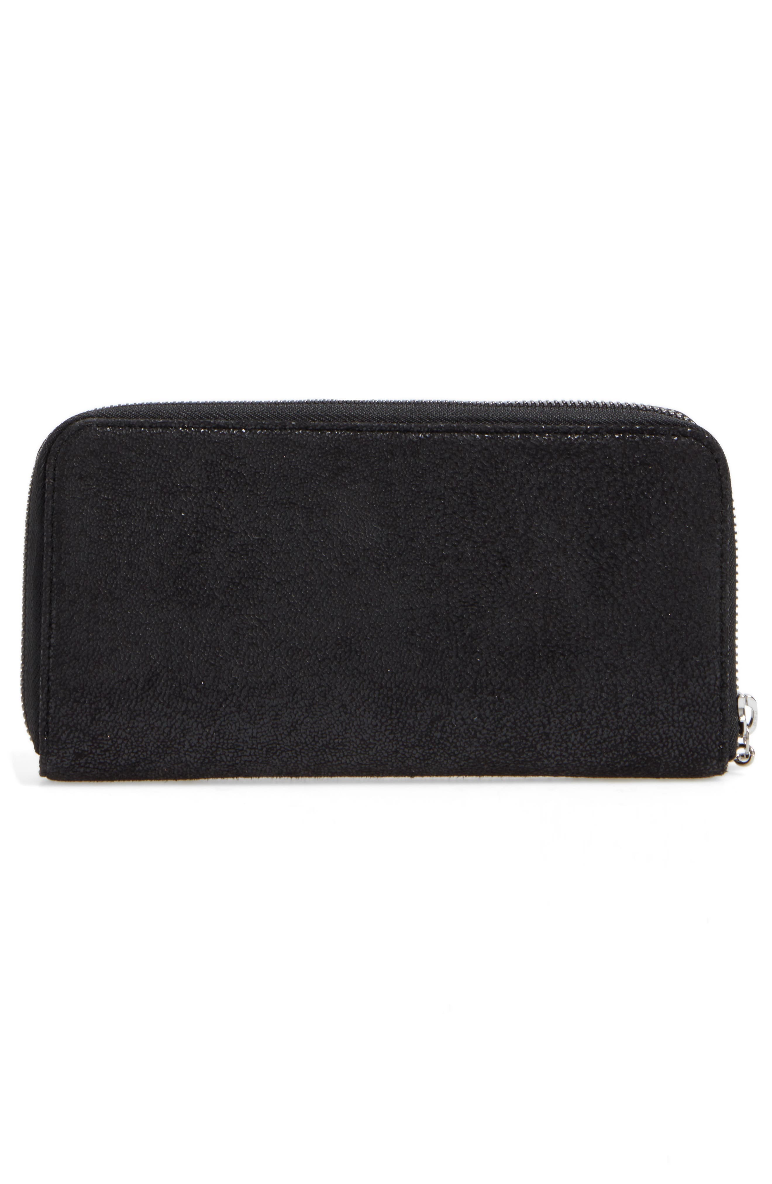 Falabella Faux Leather Wallet,                             Alternate thumbnail 4, color,                             001