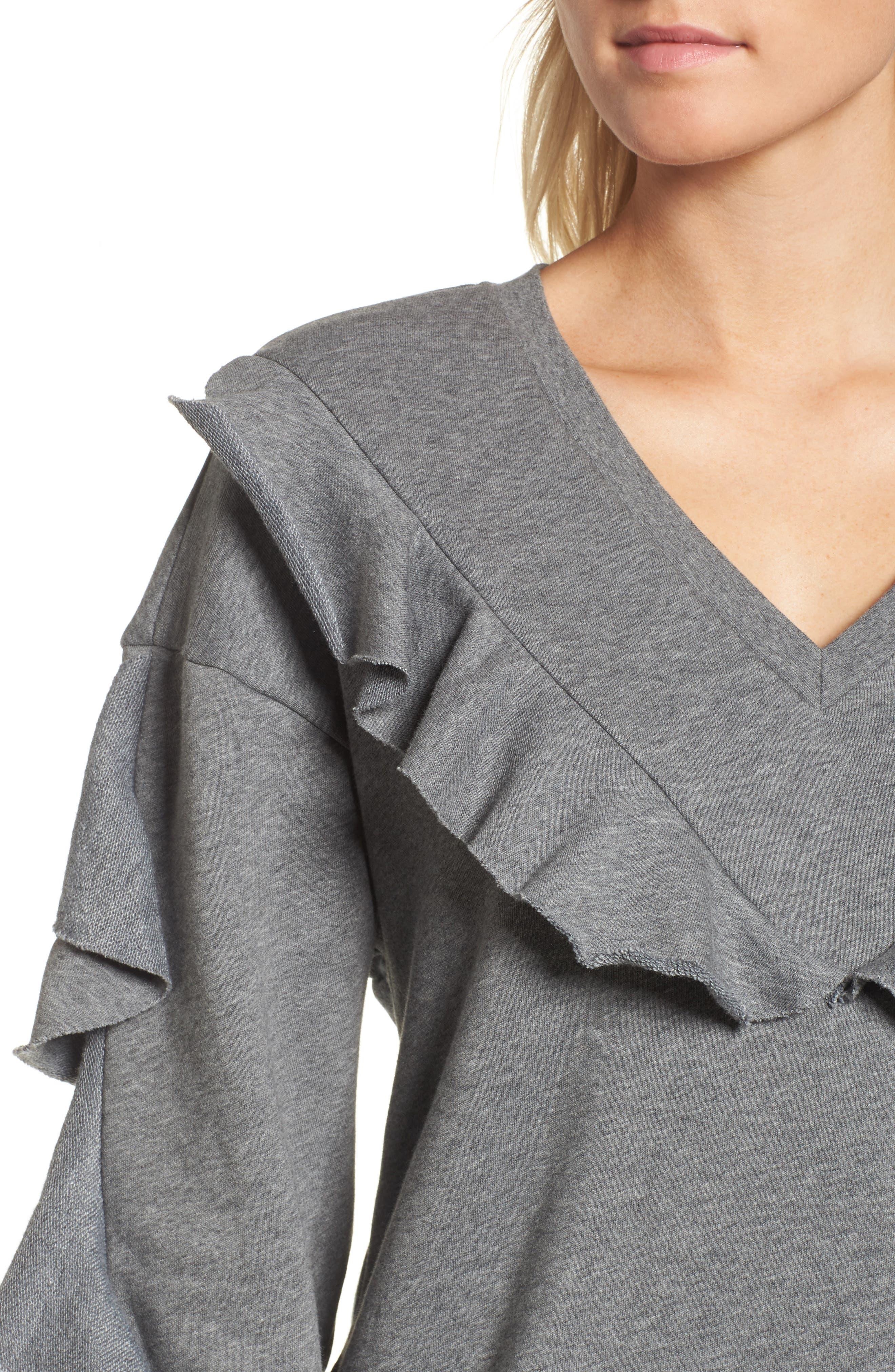 Ruffle Sweatshirt,                             Alternate thumbnail 7, color,