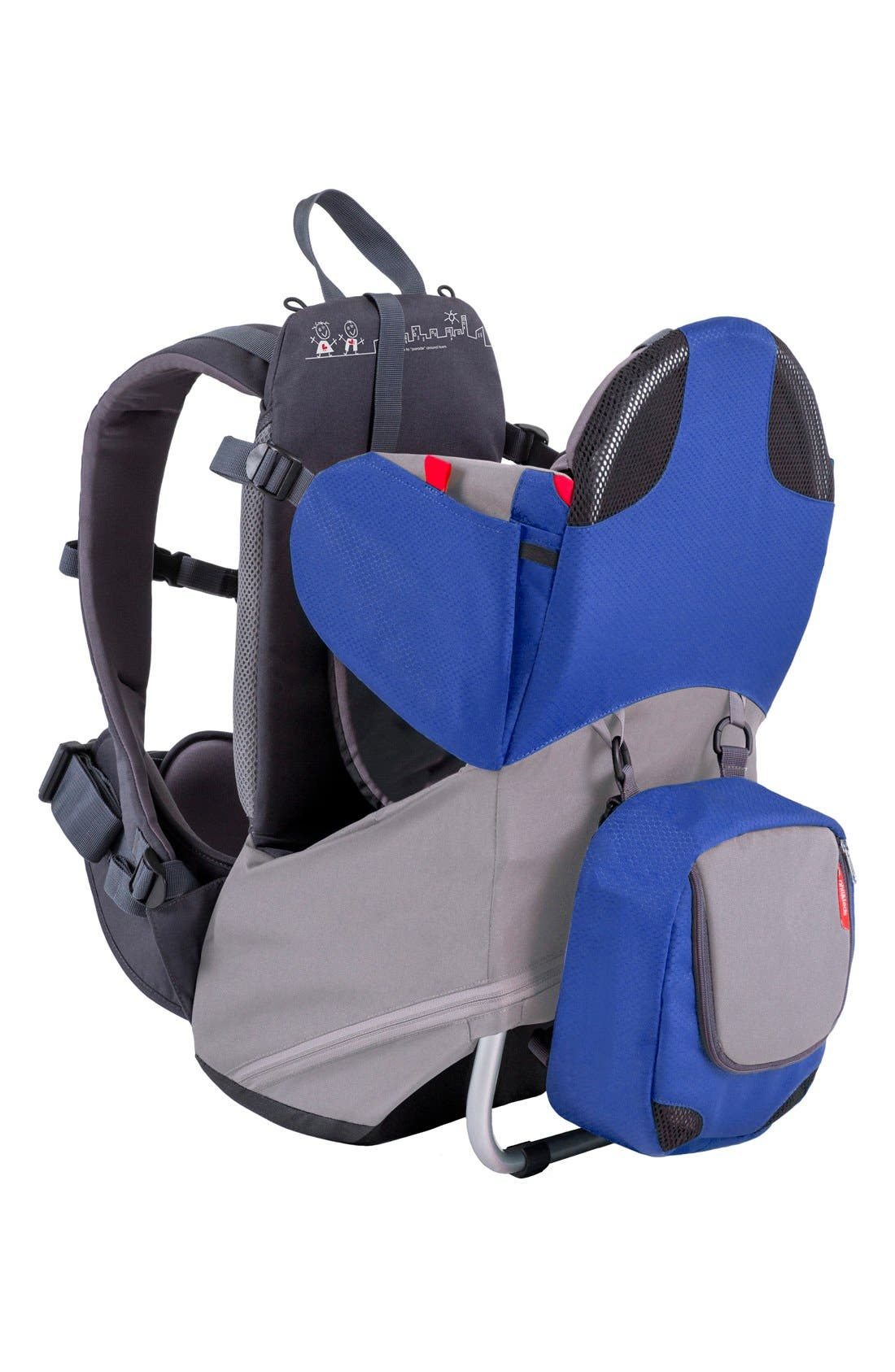 'Parade' Backpack Carrier,                             Main thumbnail 1, color,                             BLUE/ GREY