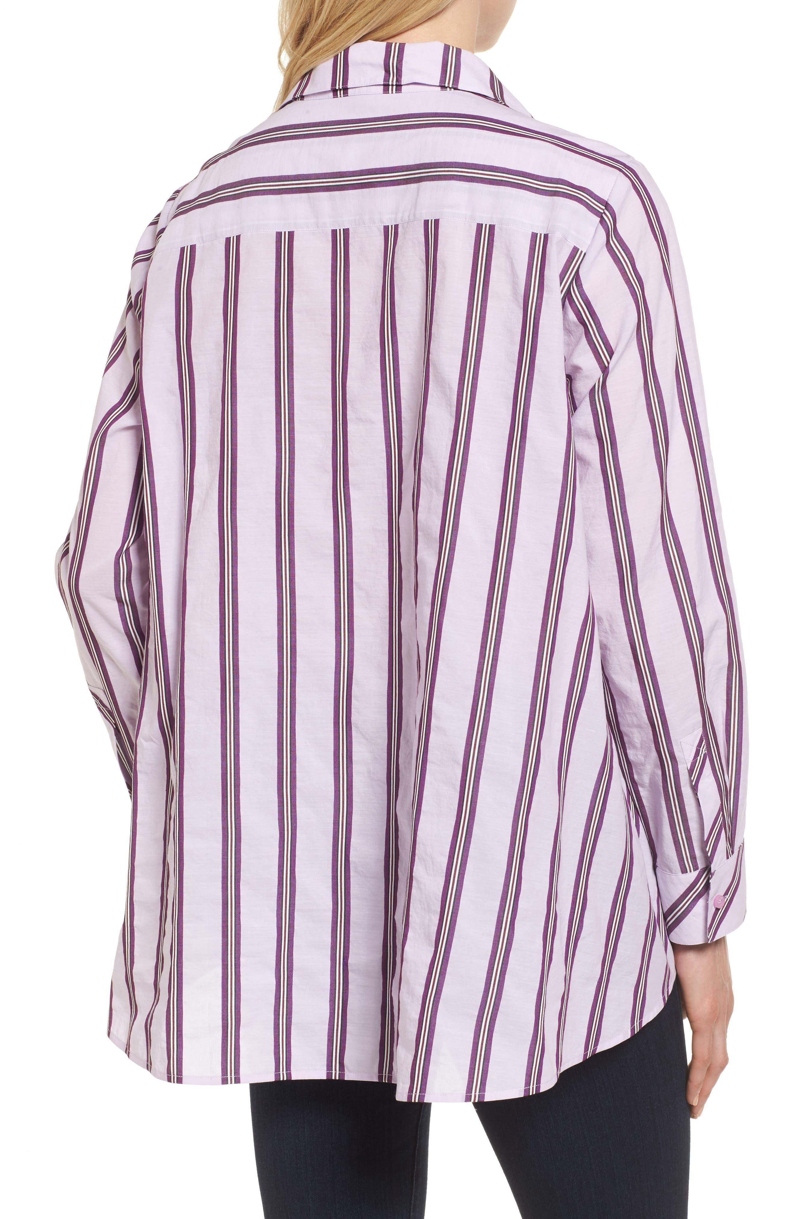 Oversize Stripe Shirt,                             Alternate thumbnail 2, color,                             680