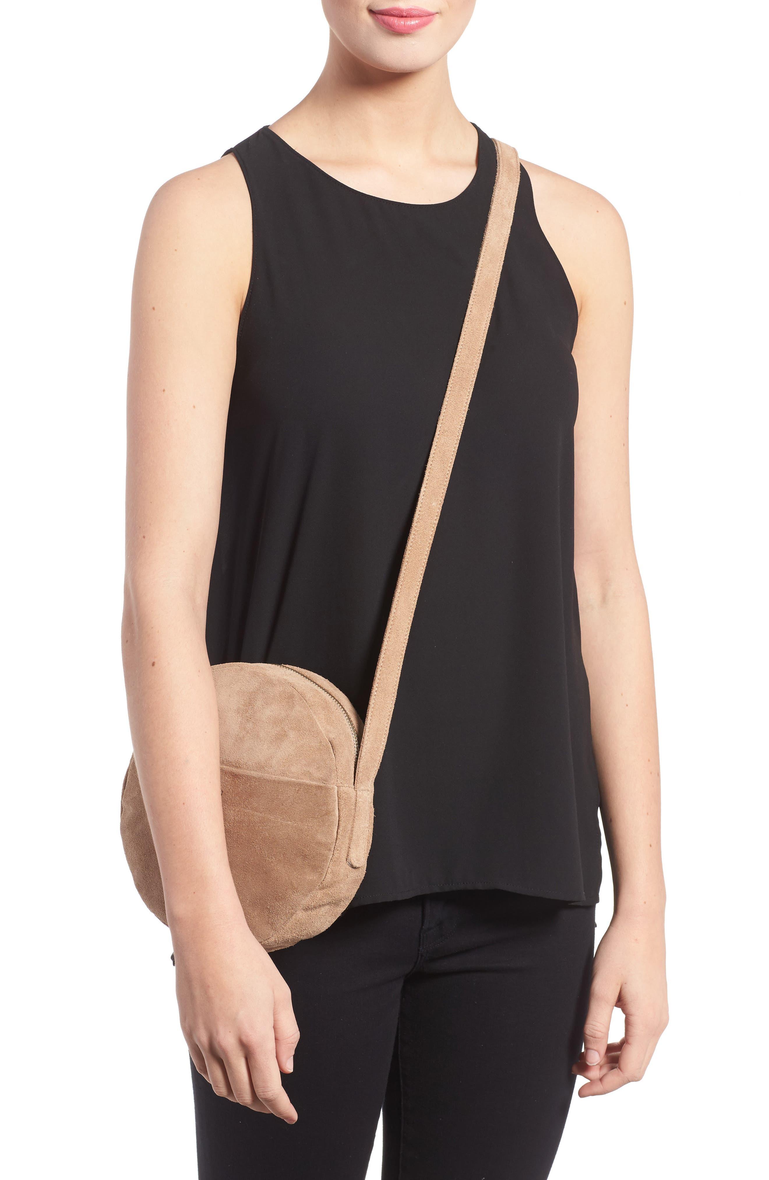 Pebbled Leather Crossbody Bag,                             Alternate thumbnail 8, color,
