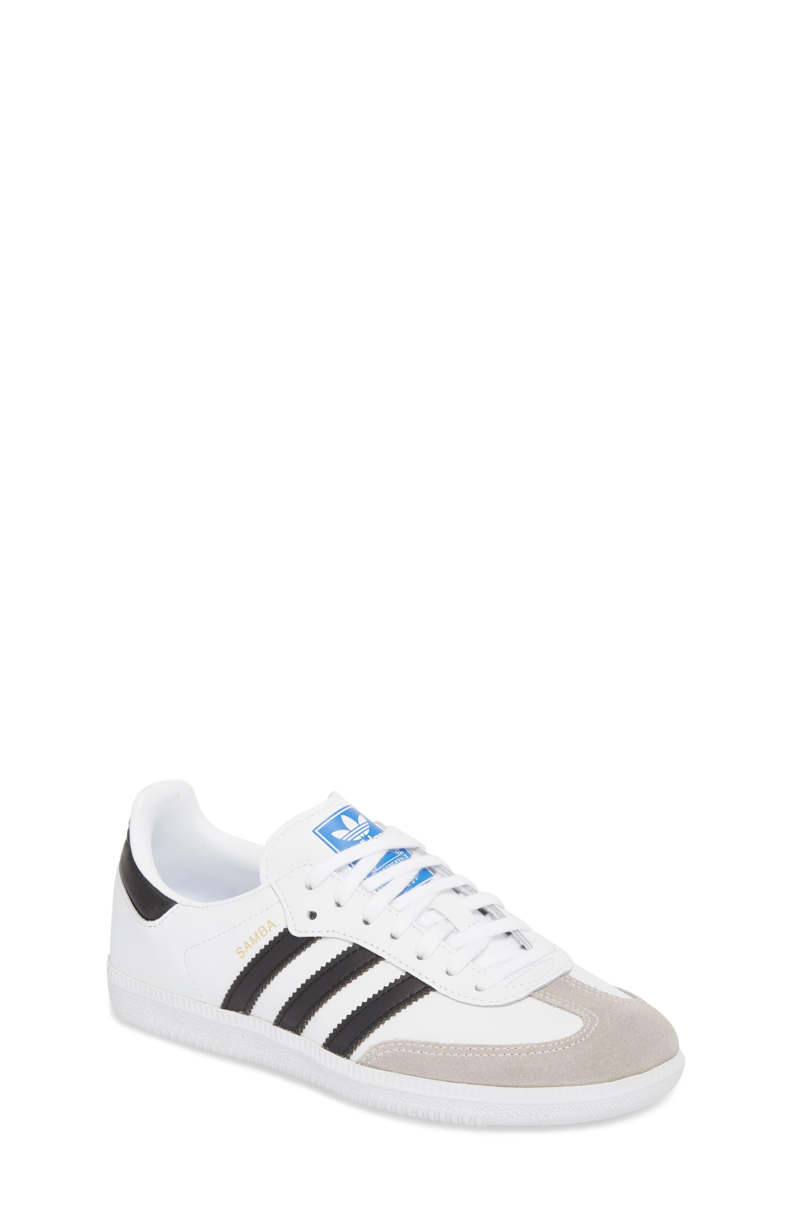 Samba OG Sneaker,                         Main,                         color, WHITE/ BLACK/ CRYSTAL WHITE
