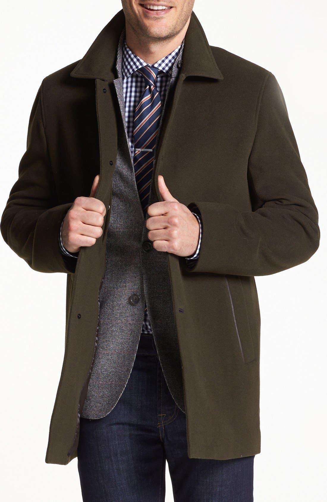 Italian Wool Blend Overcoat,                             Main thumbnail 6, color,