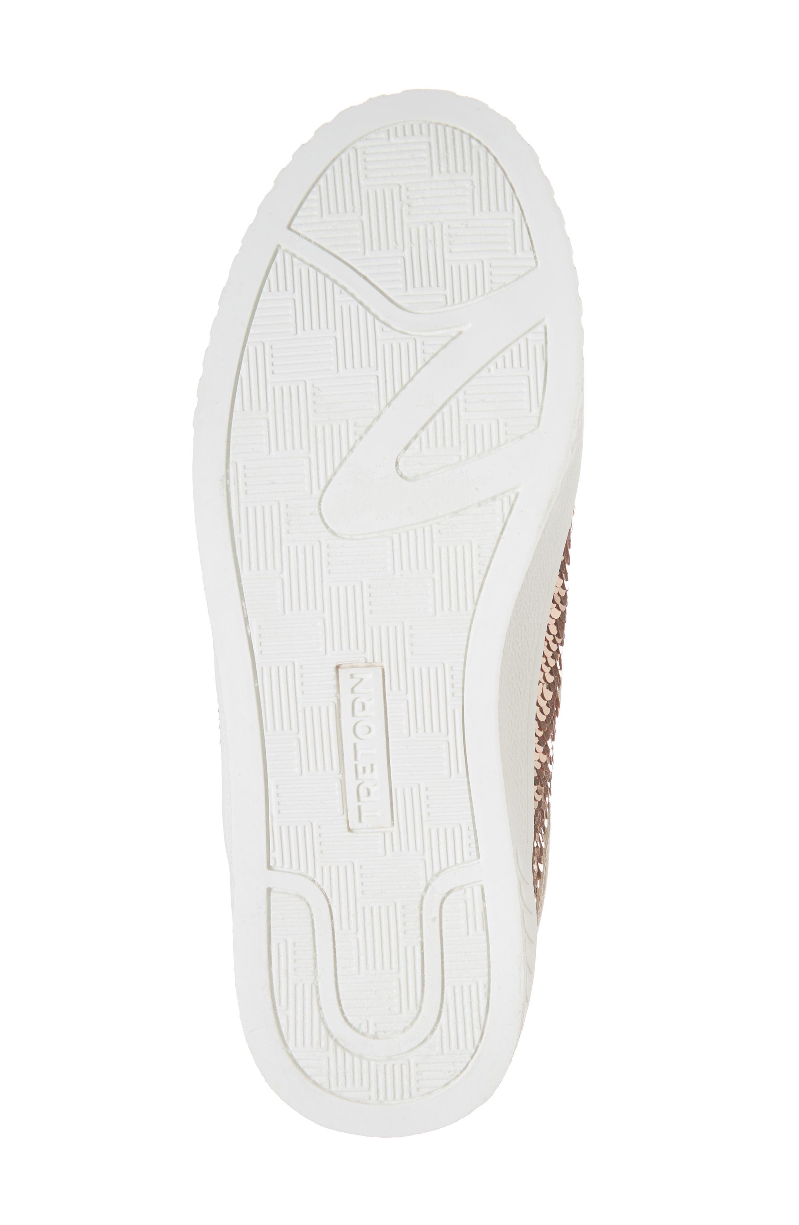 Camden Sequin Low Top Sneaker,                             Alternate thumbnail 6, color,                             DARK PINK