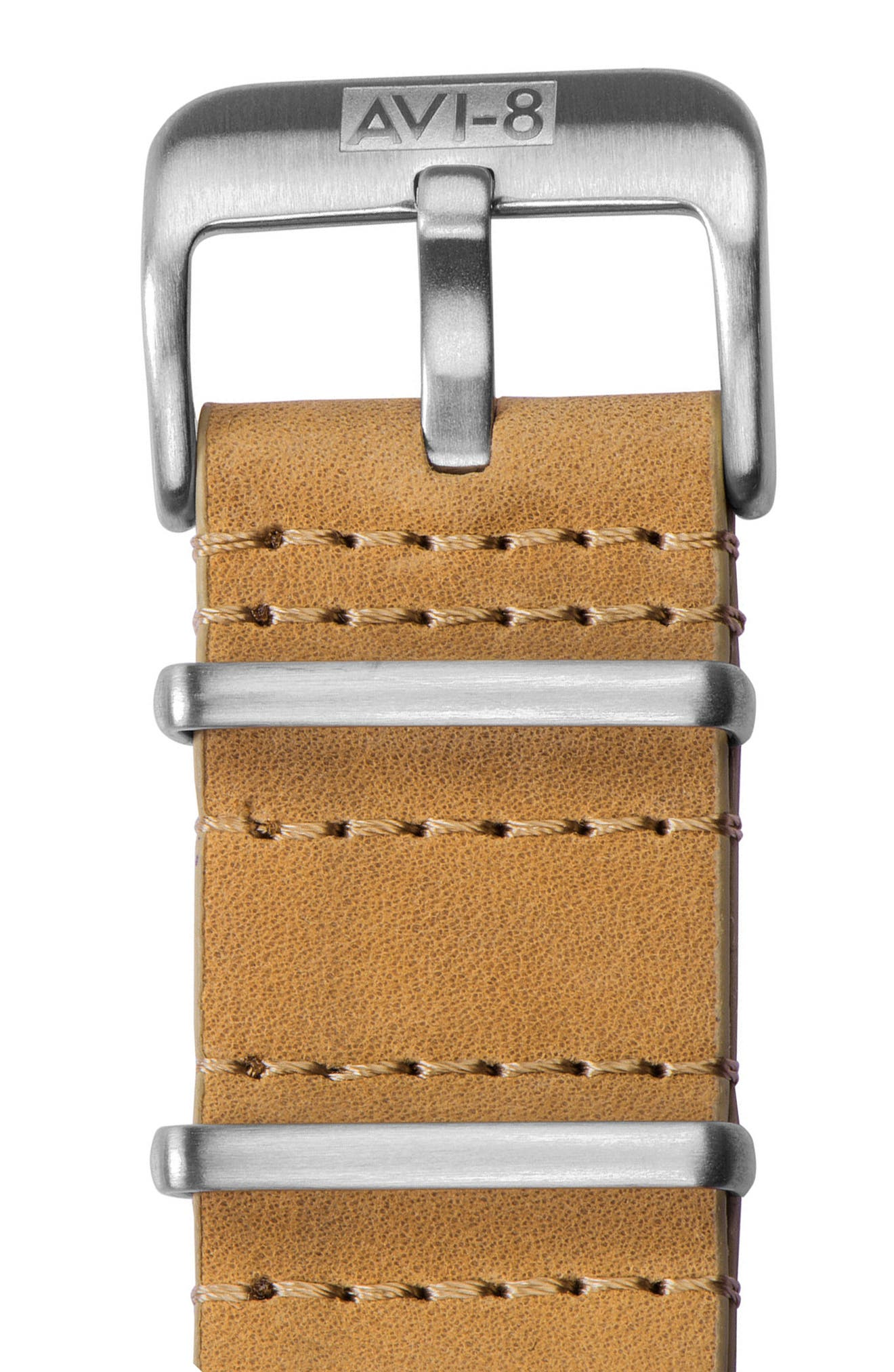 Flyboy Tuck Automatic Leather Strap Watch, 42mm,                             Alternate thumbnail 4, color,                             250