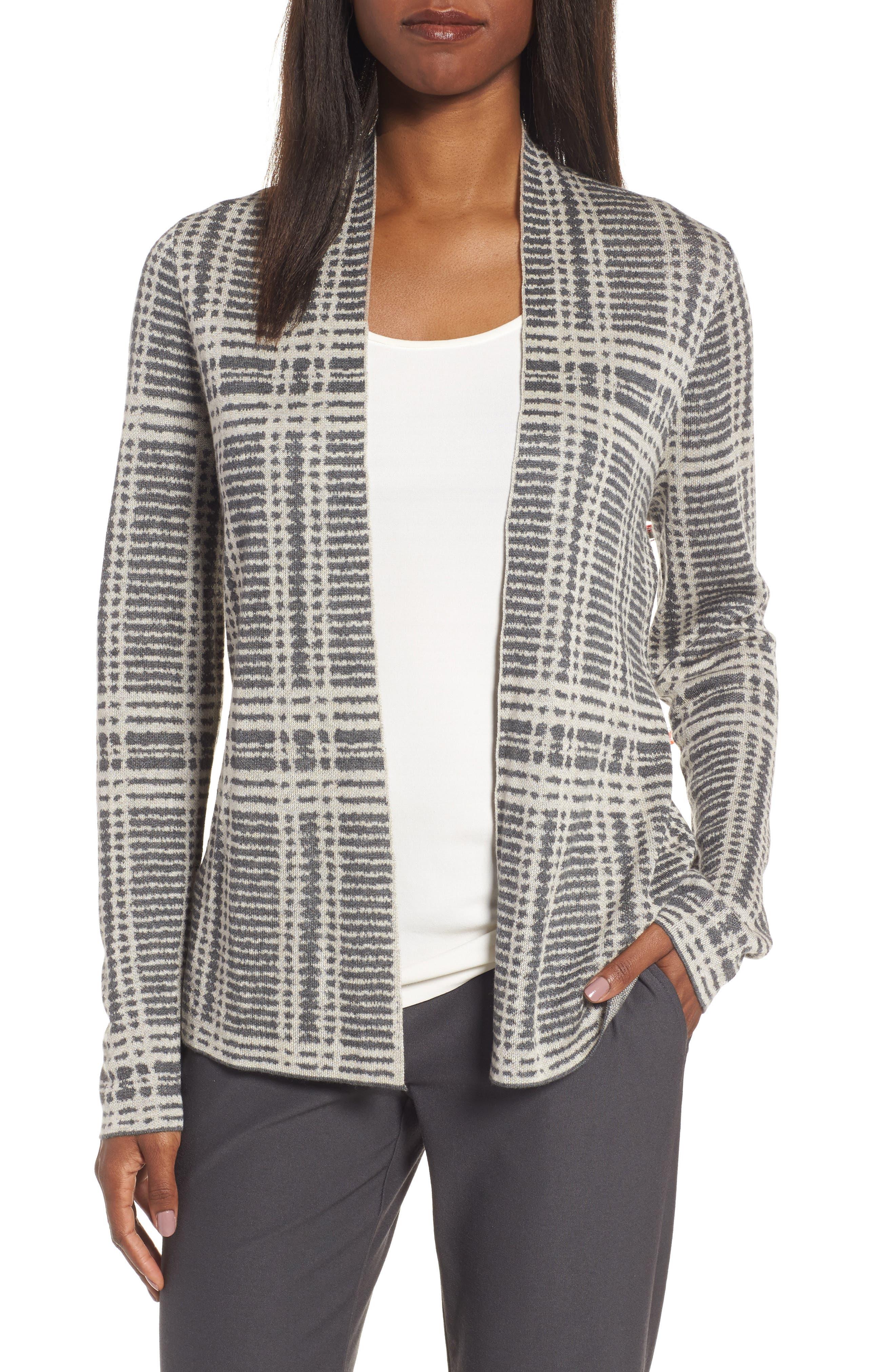 Shaped Tencel<sup>®</sup> & Merino Wool Cardigan,                         Main,                         color,