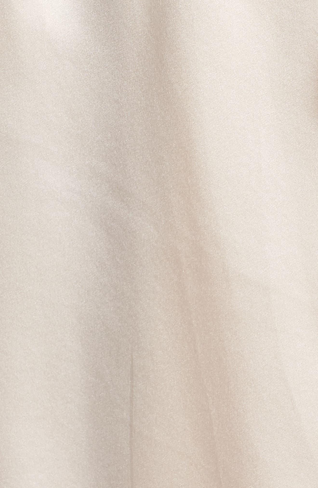 Silk Robe,                             Alternate thumbnail 5, color,                             VANILLA