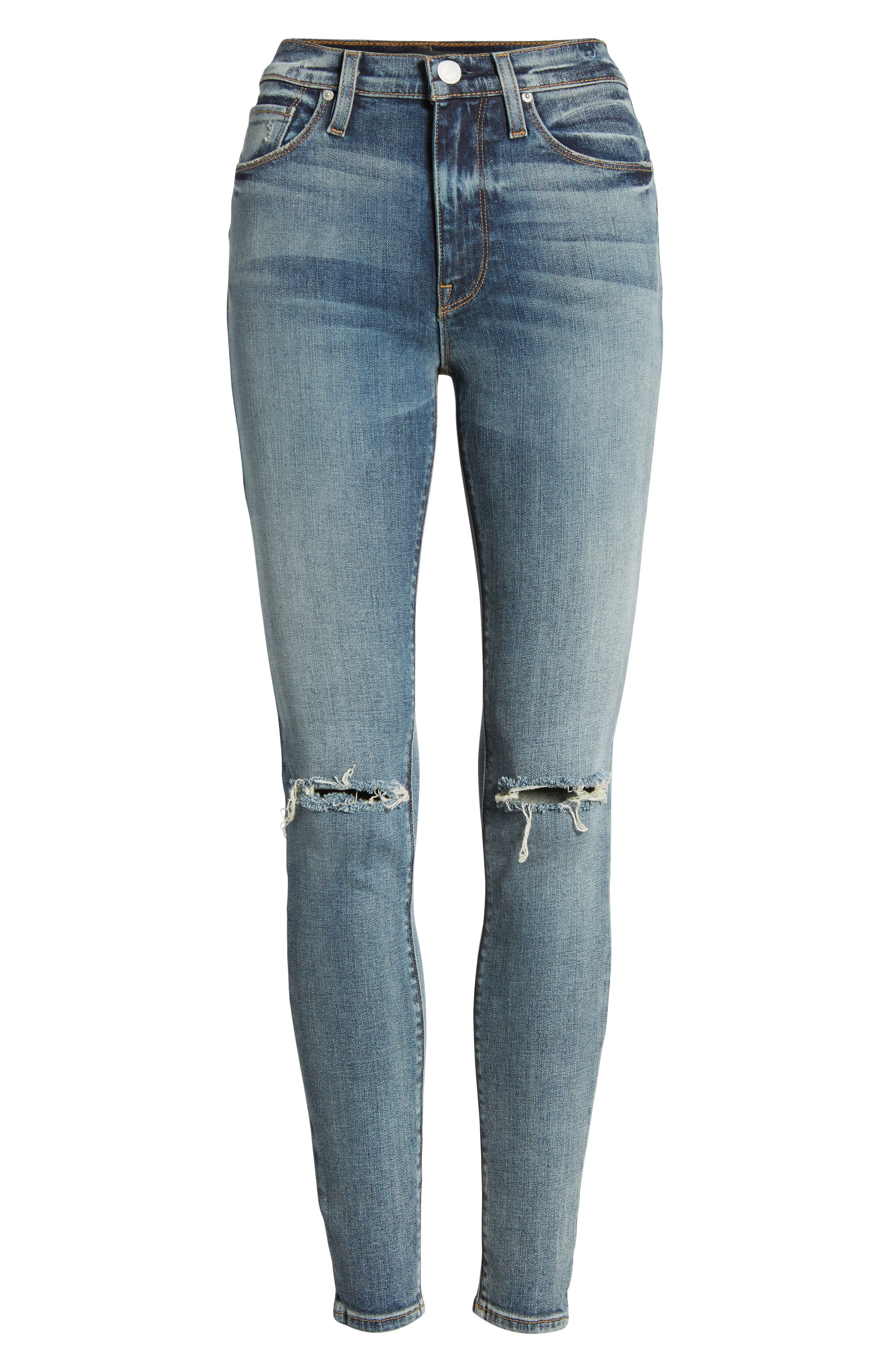 Barbara High Waist Super Skinny Jeans,                             Alternate thumbnail 7, color,                             420