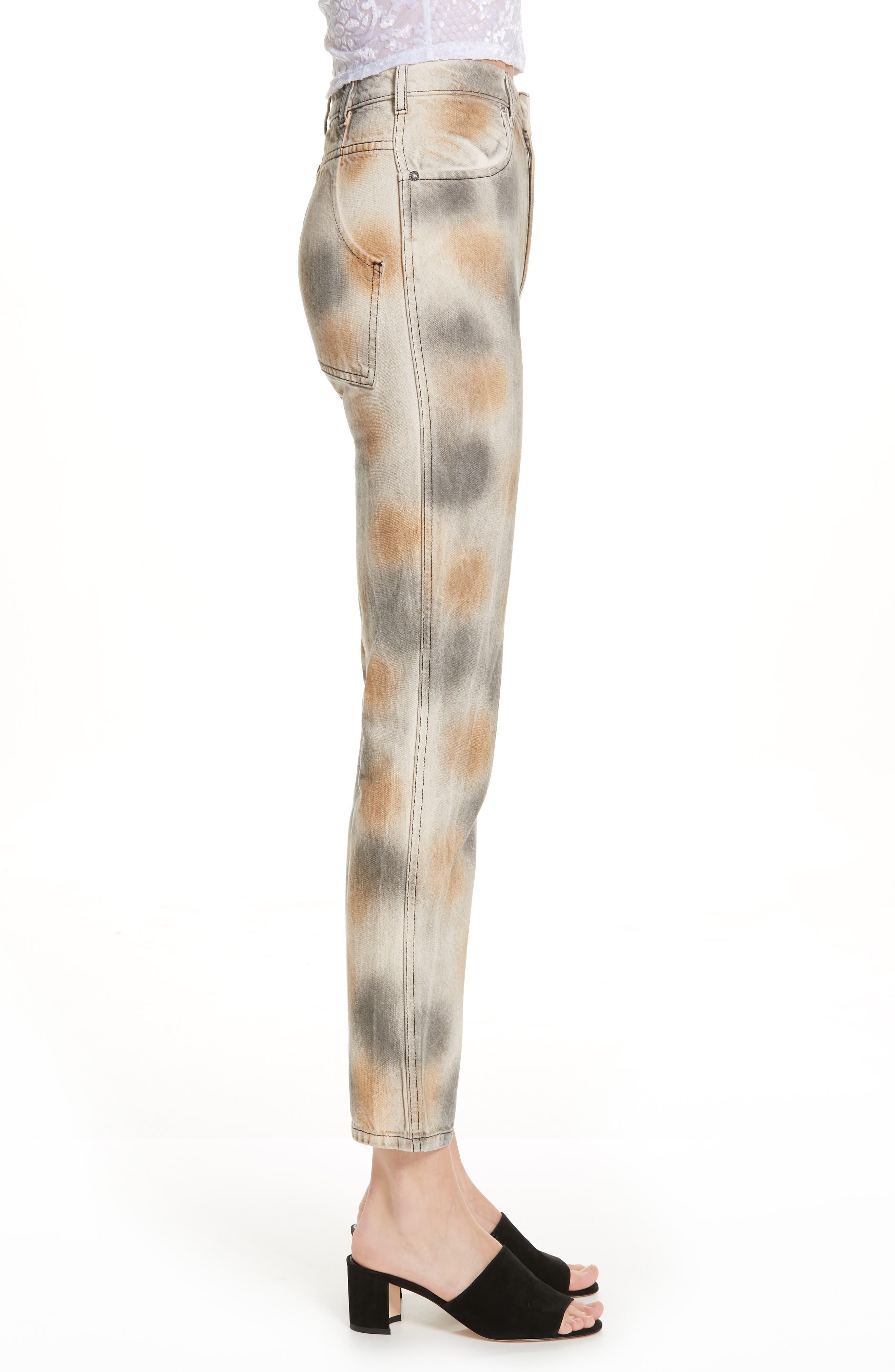 Echkaus Latta EL Tie Dye Straight Leg Jeans,                             Alternate thumbnail 3, color,                             DIRTY DYE