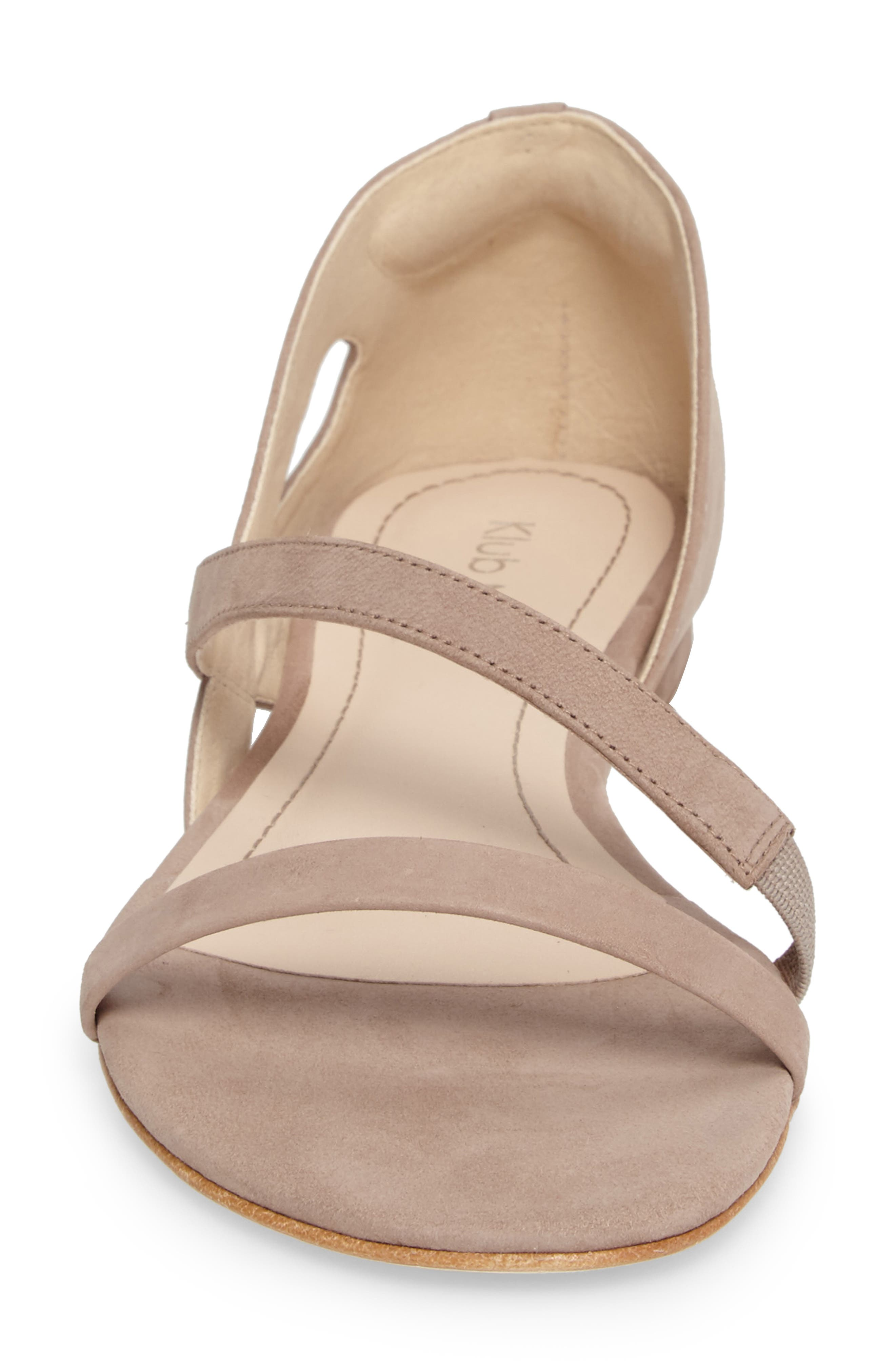 Jeanne Sandal,                             Alternate thumbnail 4, color,                             TAUPE LEATHER