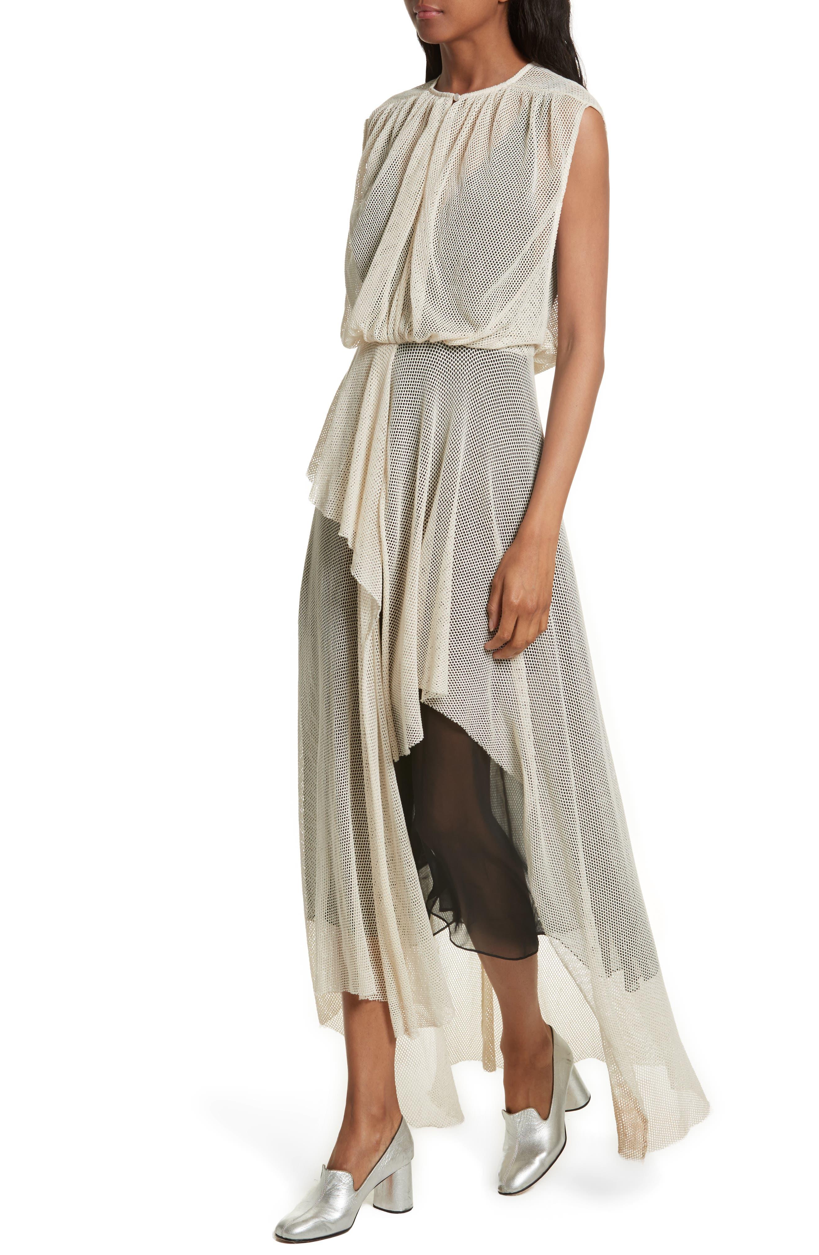 Tangle Ruffle Midi Dress,                             Alternate thumbnail 4, color,                             250