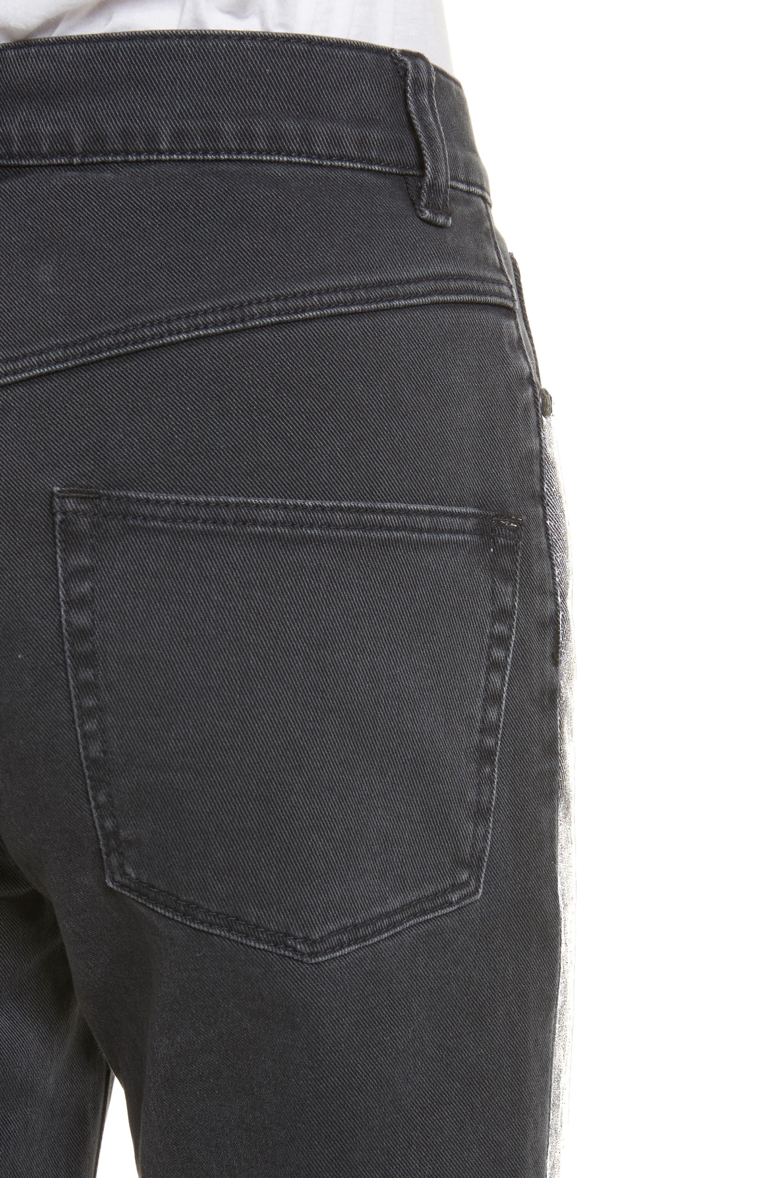 Glitter Stripe Jeans,                             Alternate thumbnail 4, color,                             037