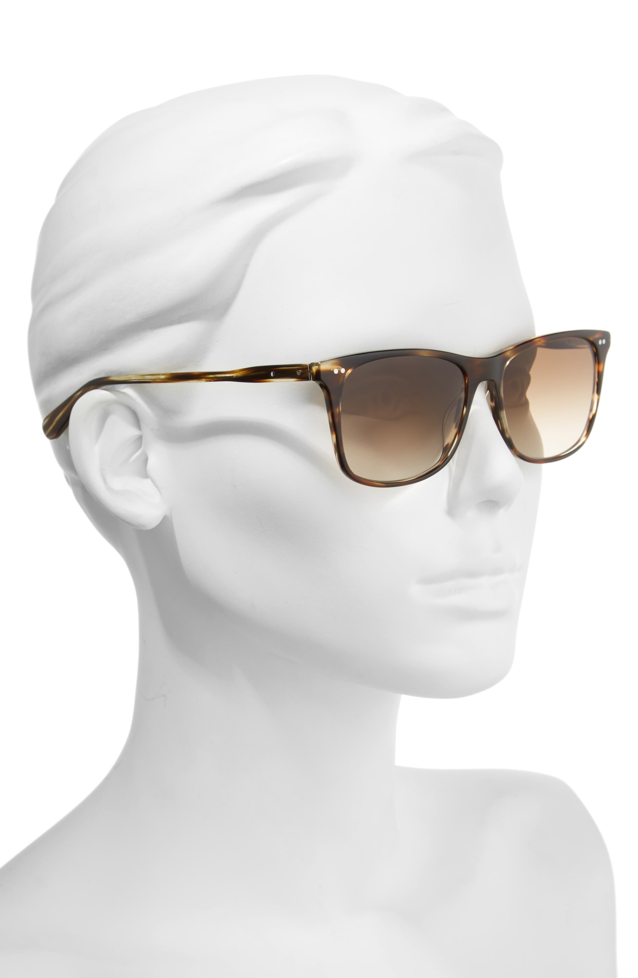 The Thatcher 54mm Gradient Sunglasses,                             Alternate thumbnail 4, color,