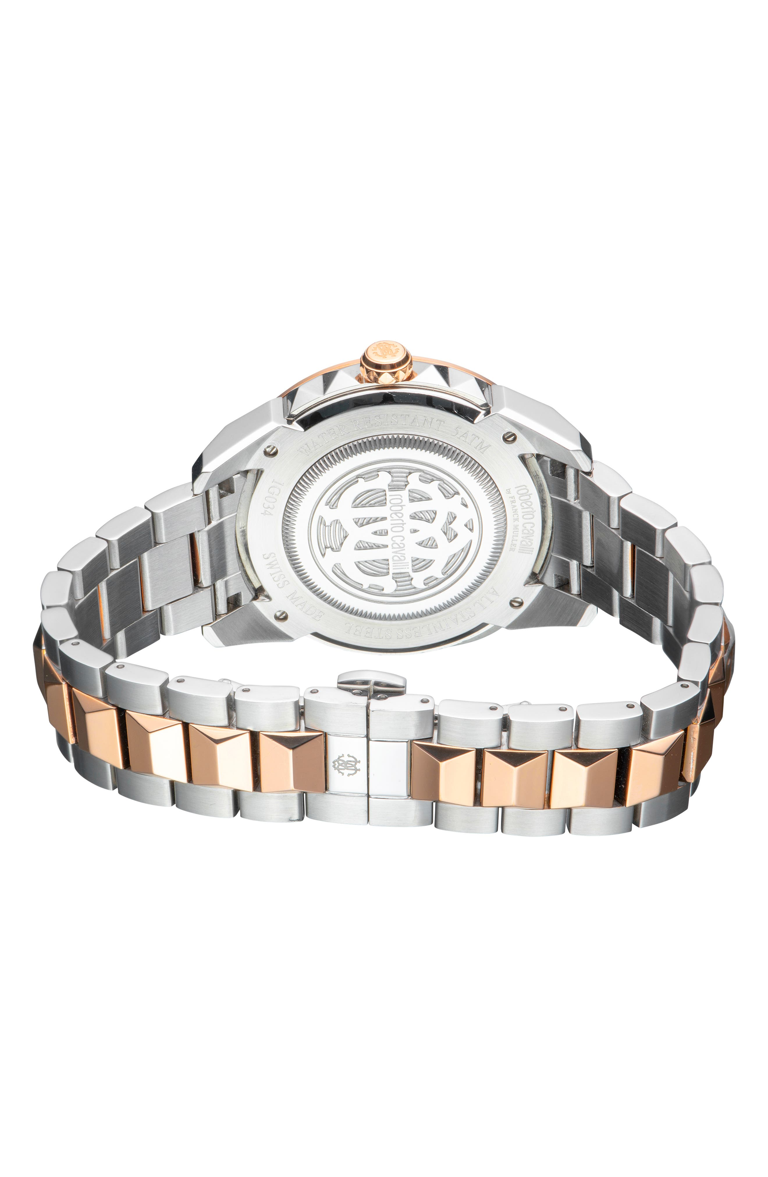 Costellato Bracelet Watch,                             Alternate thumbnail 2, color,                             ROSE GOLD/ SILVER