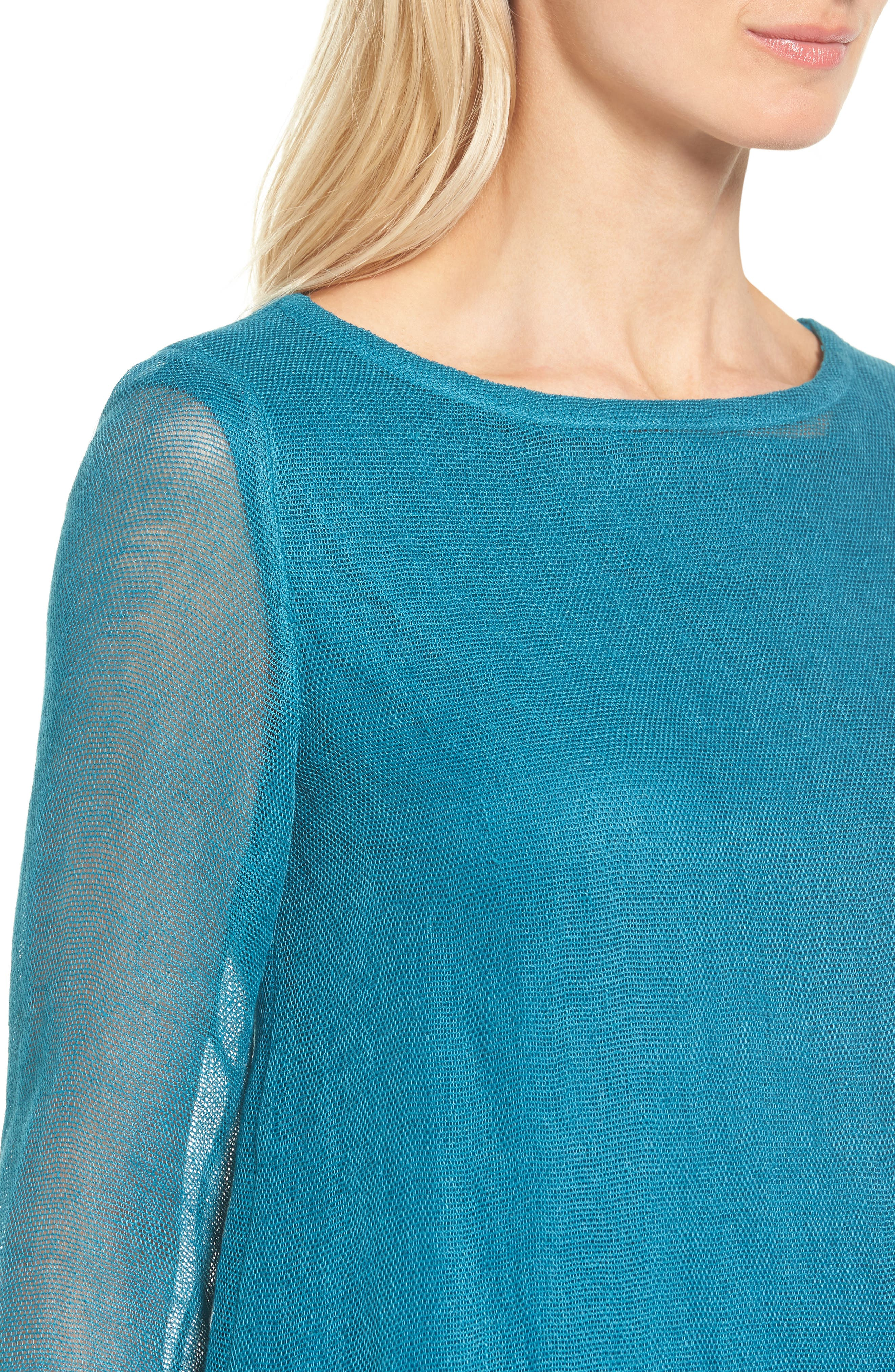 Organic Linen Blend Tunic,                             Alternate thumbnail 17, color,