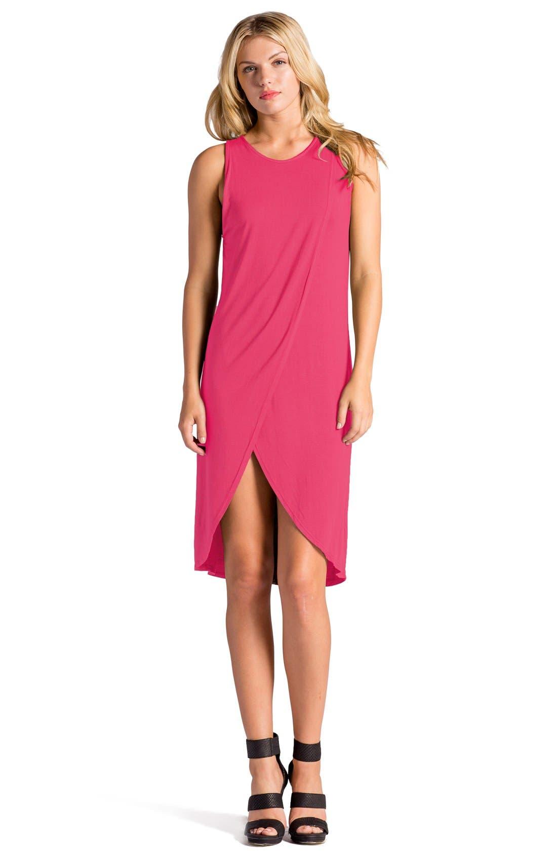 Elba Asymmetrical Hem Sleeveless Jersey Dress,                             Alternate thumbnail 14, color,