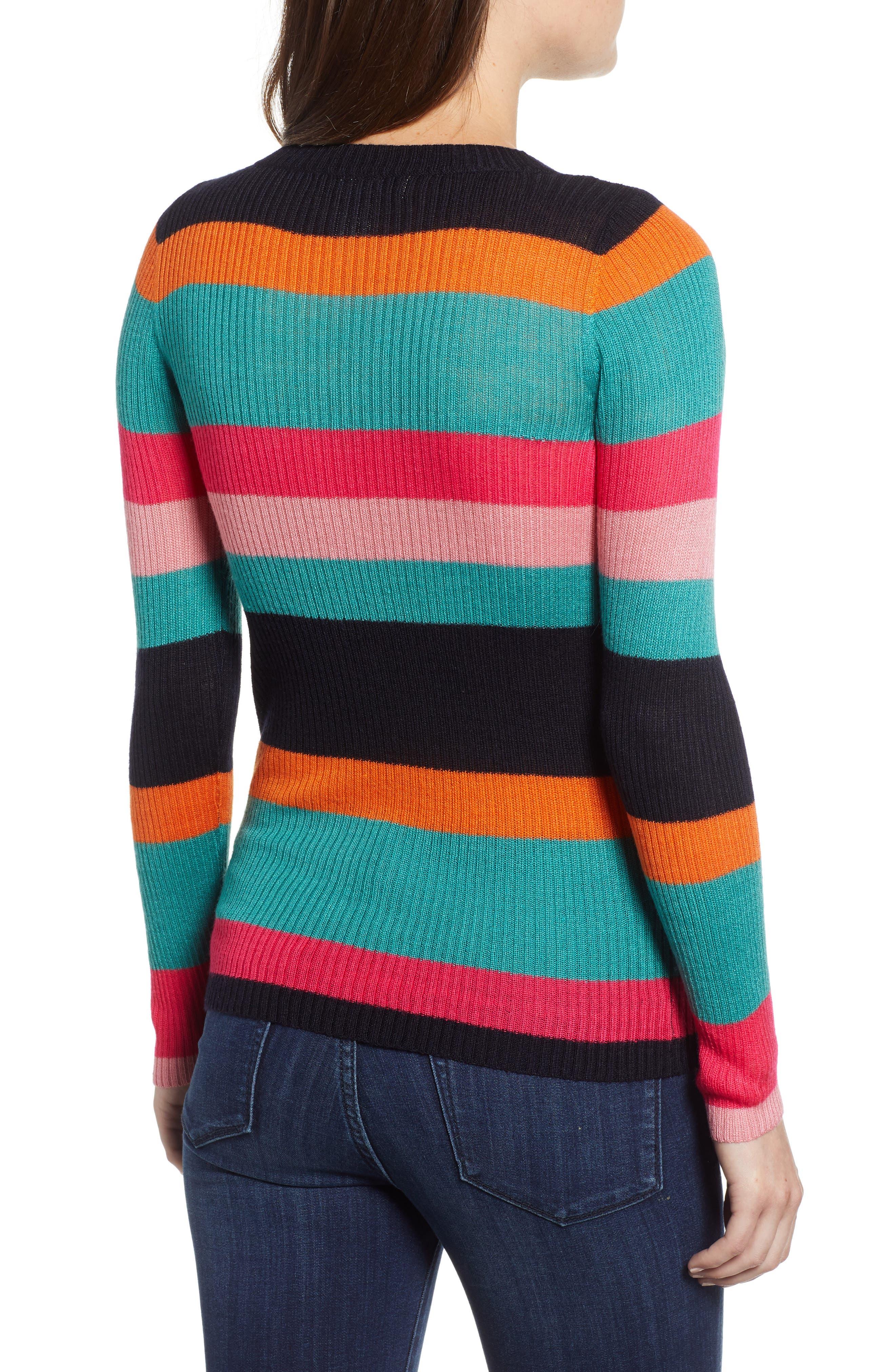 Rainbow Skivvy Stripe Sweater,                             Alternate thumbnail 2, color,                             300