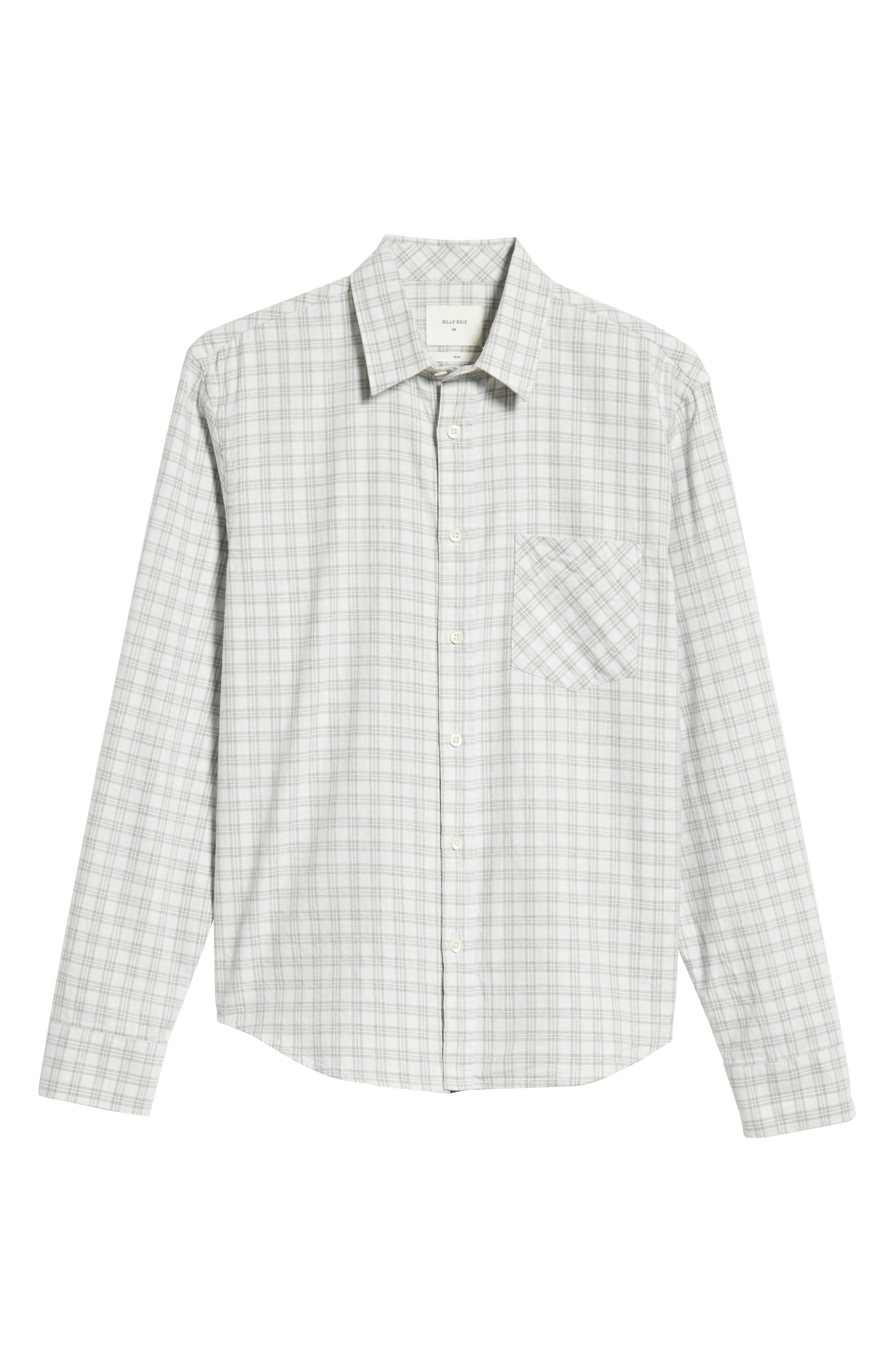 Kirby Slim Fit Check Sport Shirt,                             Alternate thumbnail 5, color,                             LIGHT GREY/ NATURAL