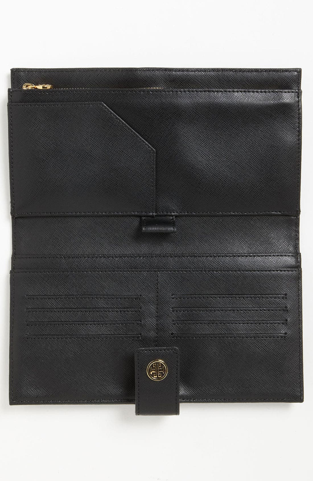 TORY BURCH,                             'Robinson' Oversized Travel Wallet,                             Alternate thumbnail 2, color,                             001